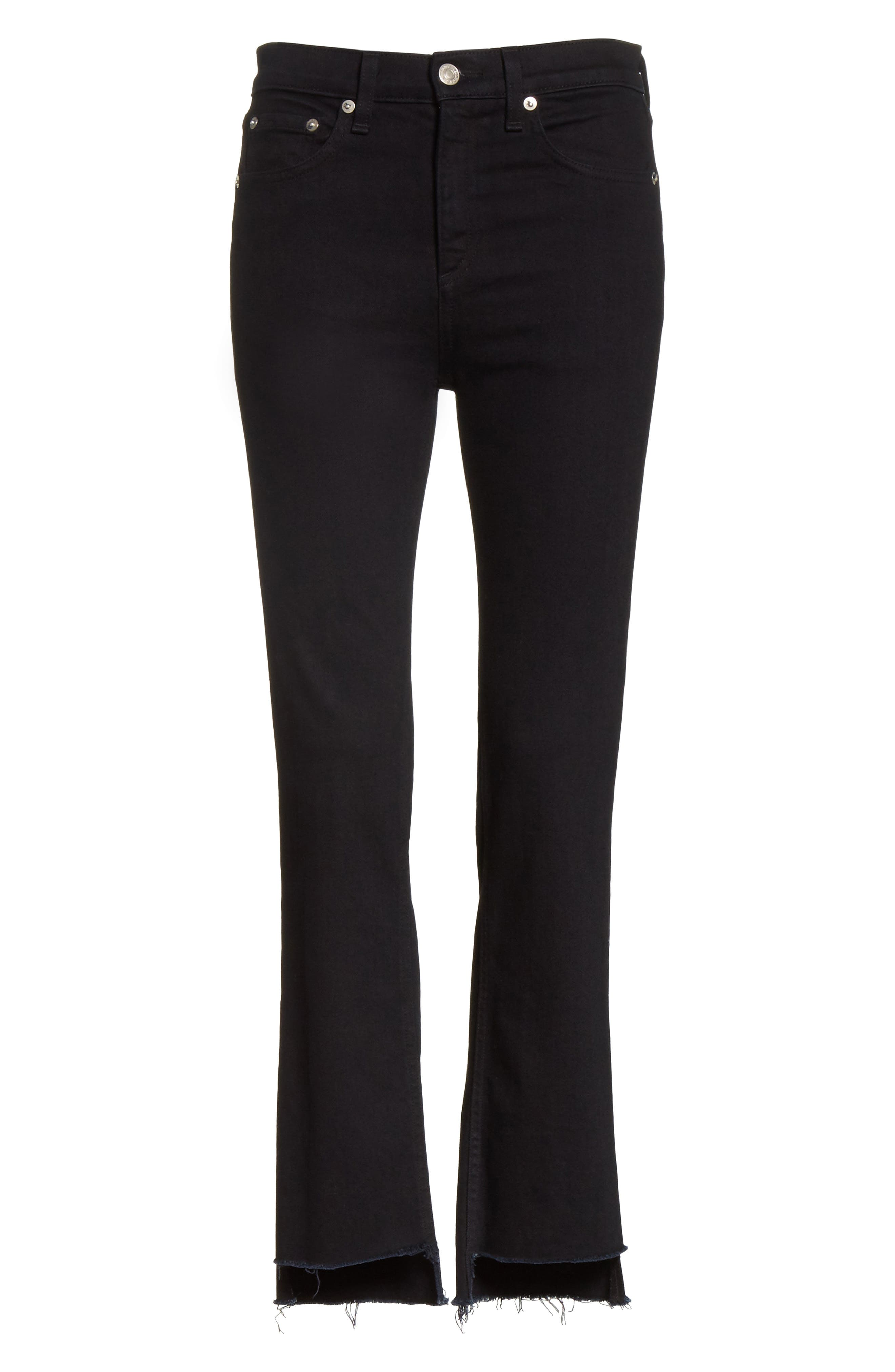 High Waist Stovepipe Jeans,                             Alternate thumbnail 6, color,                             001