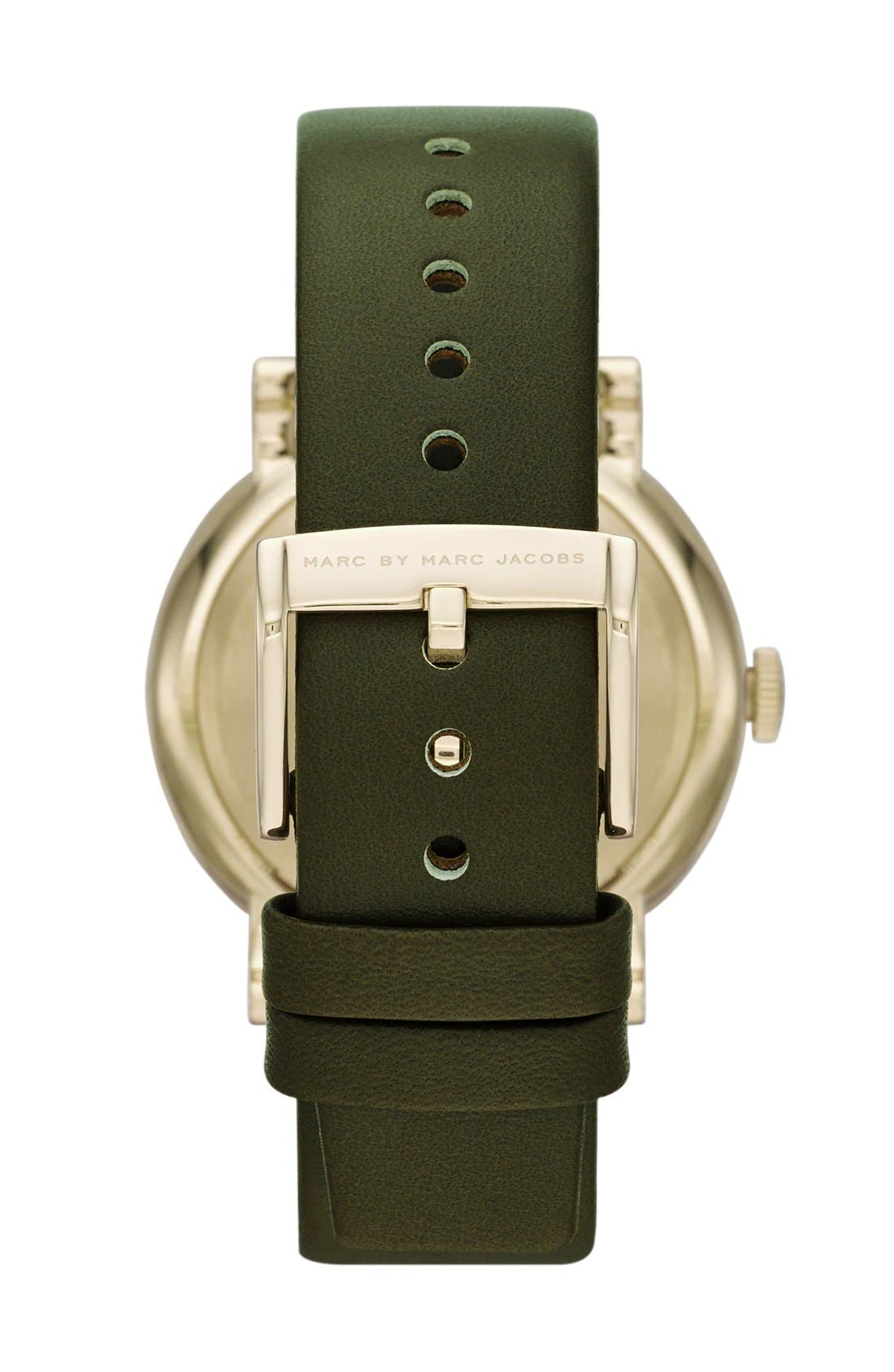 'Baker' Leather Strap Watch, 37mm,                             Alternate thumbnail 17, color,