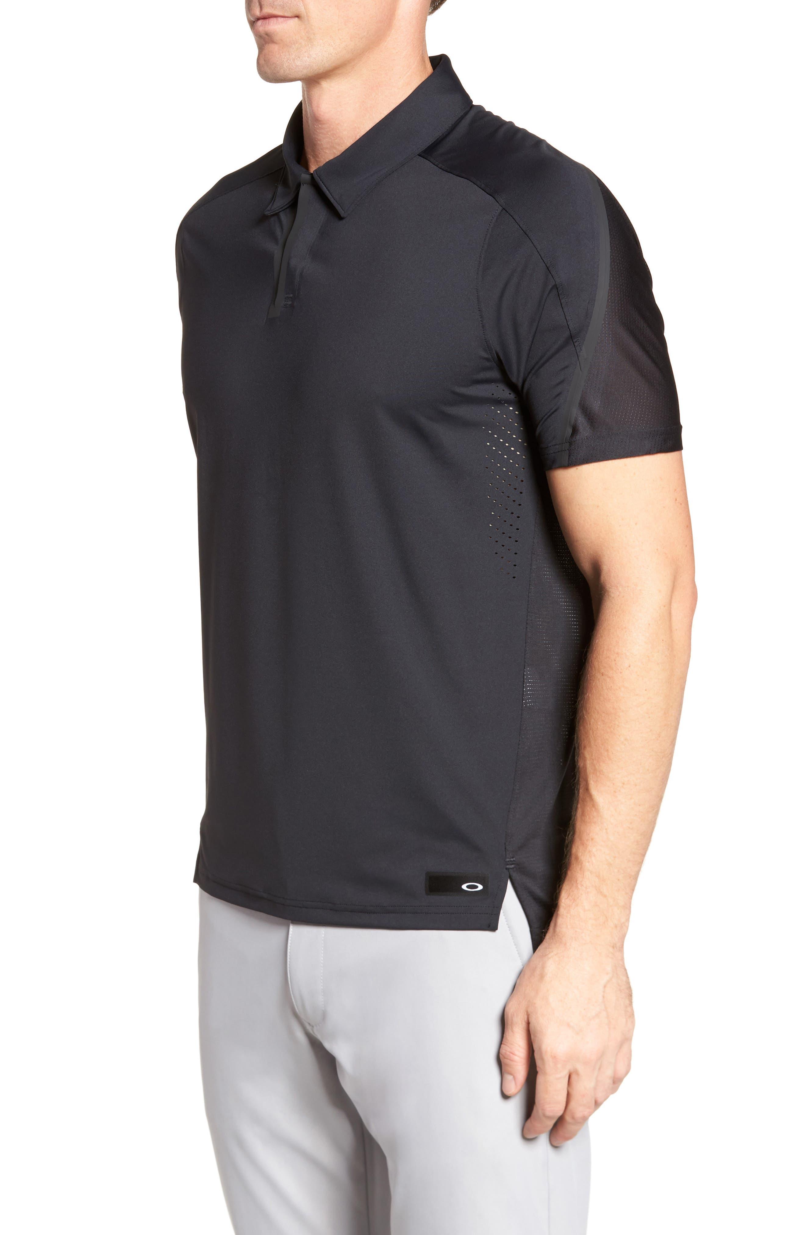 Velocity Polo Shirt,                             Alternate thumbnail 3, color,                             001