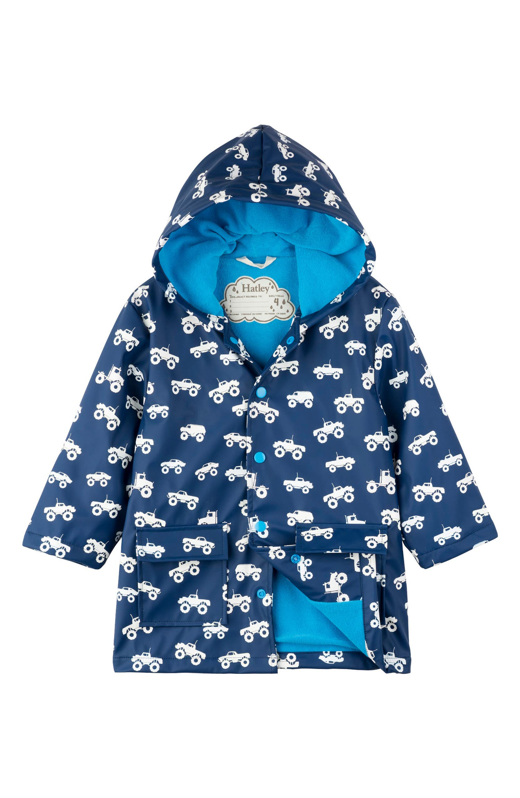 994176bd87f5 Hatley Monster Trucks Color Change Waterproof Raincoat (Toddler Boys ...
