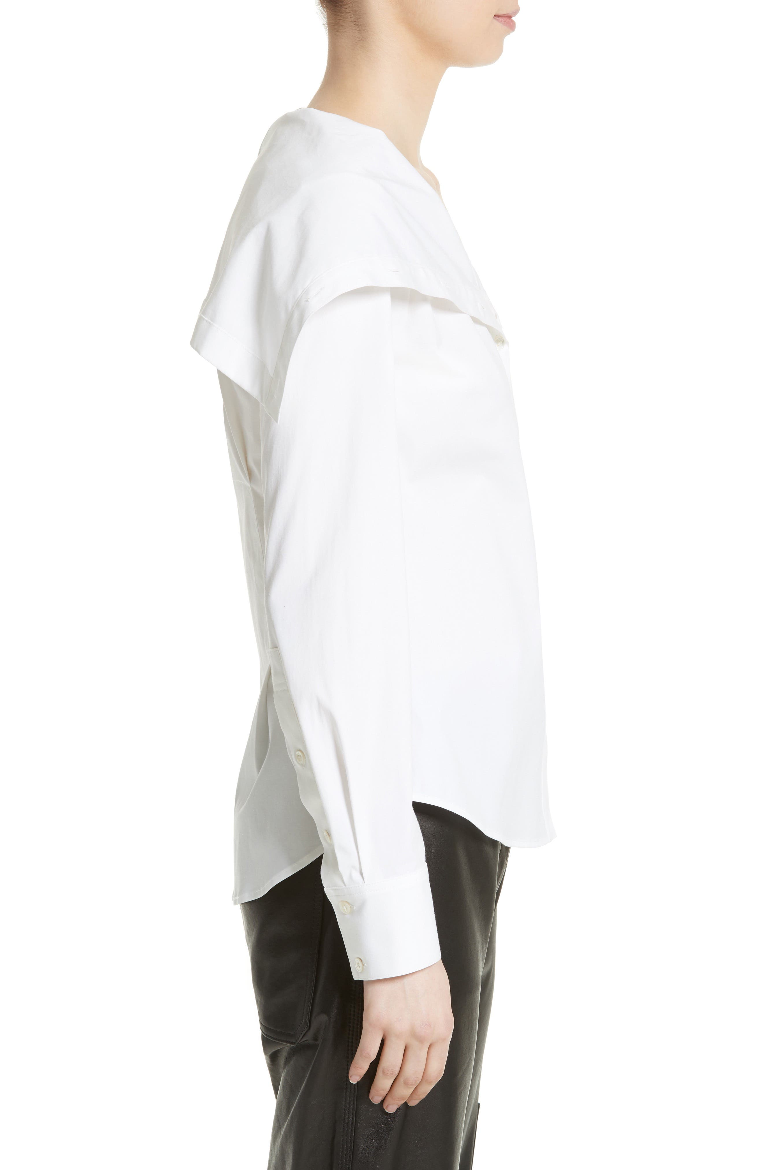 Doherty Stretch Cotton Sailor Shirt,                             Alternate thumbnail 3, color,                             100