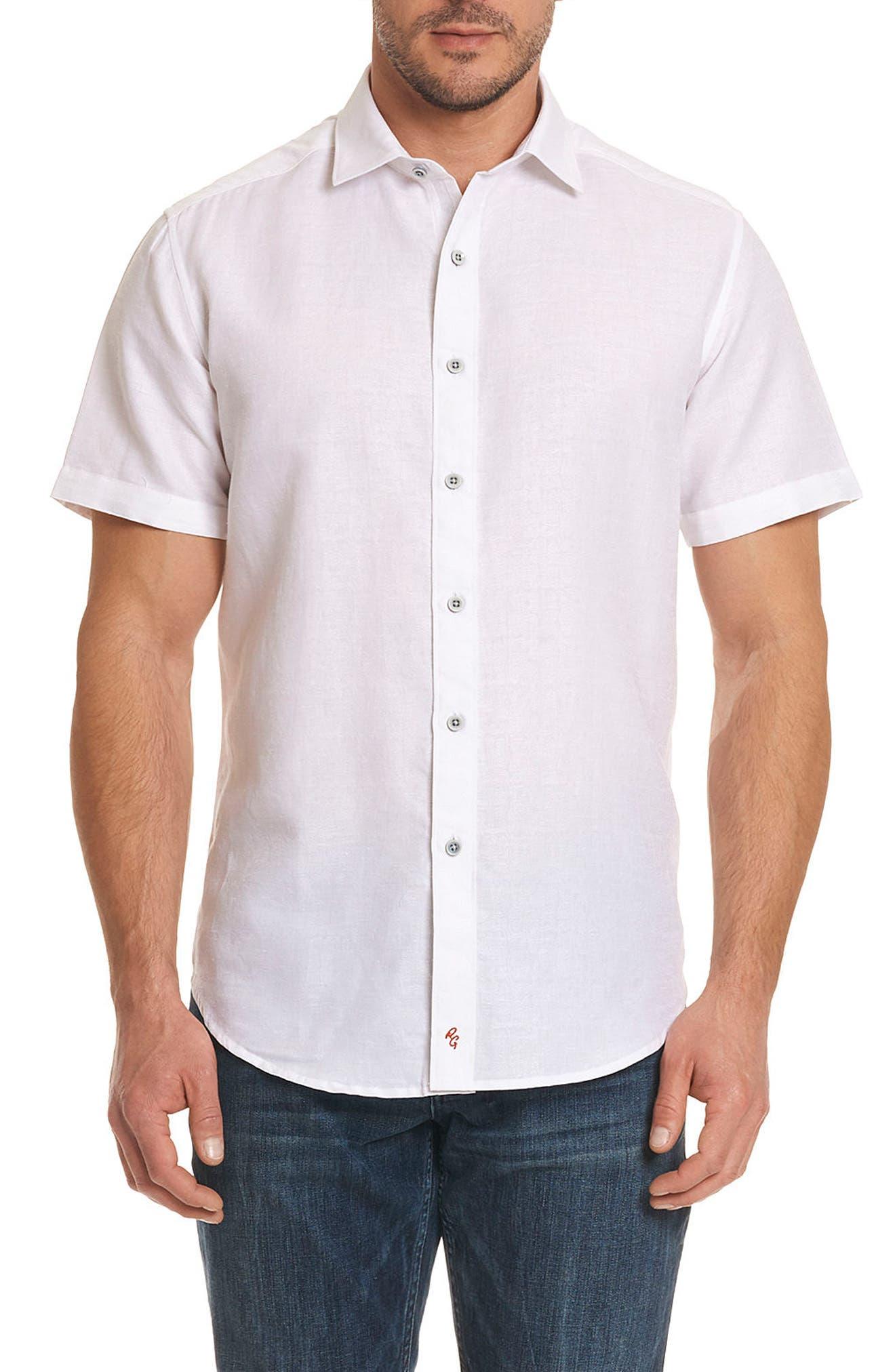 Cyprus Classic Fit Linen & Cotton Sport Shirt,                         Main,                         color,