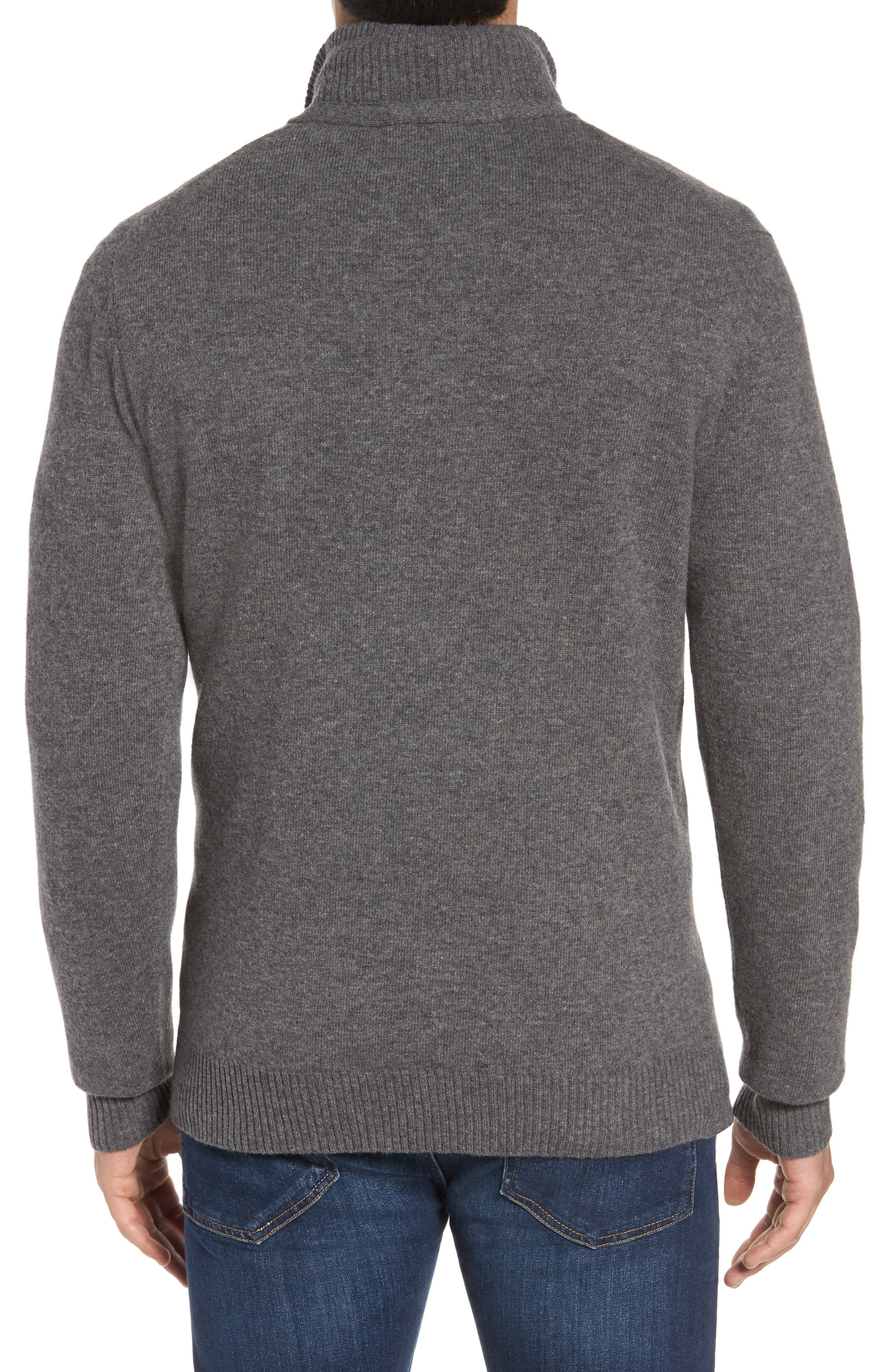 Cape Rodney Lambswool Pullover,                             Alternate thumbnail 2, color,                             CHARCOAL