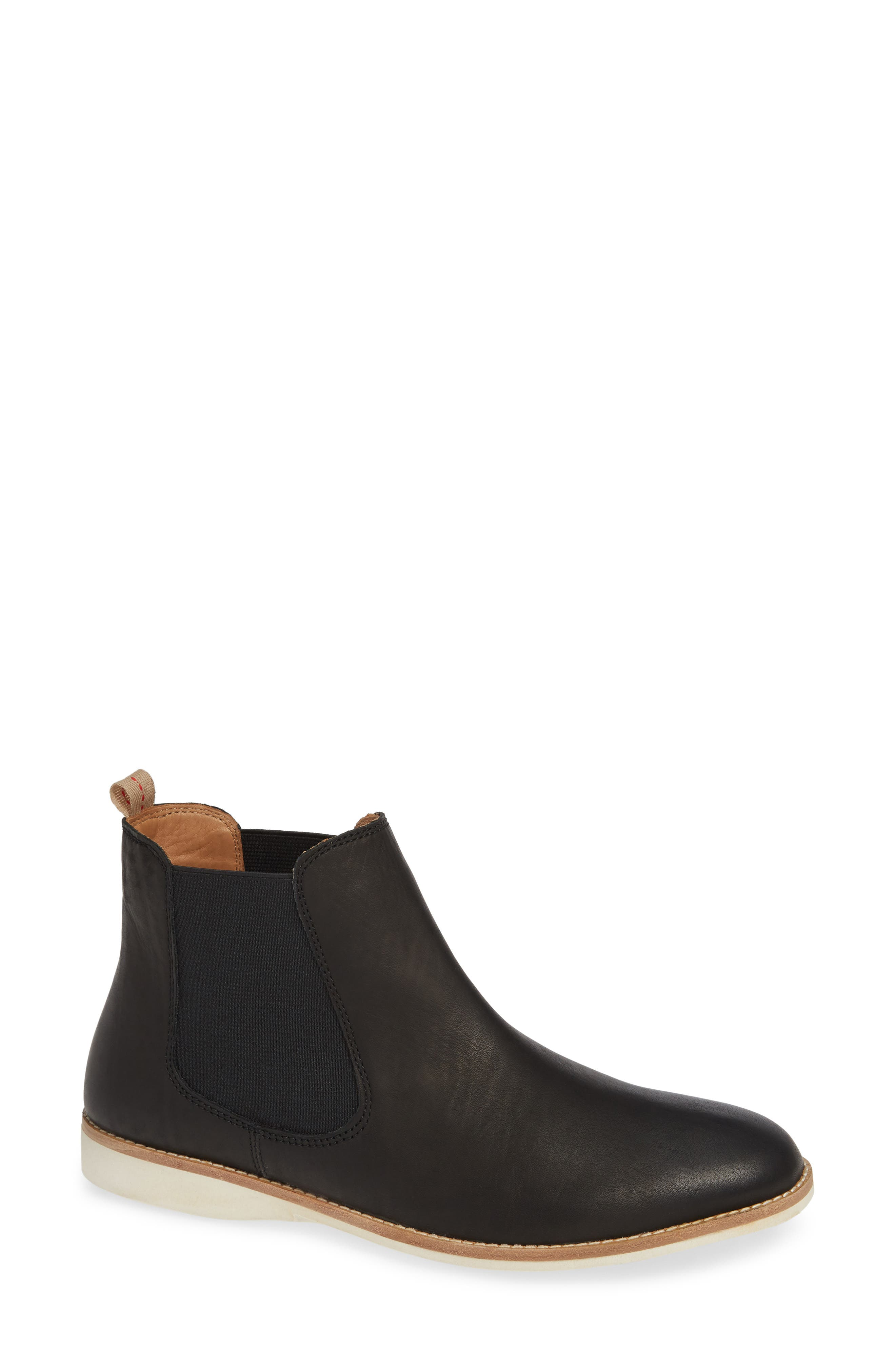 ROLLIE Leather Chelsea Bootie in Black