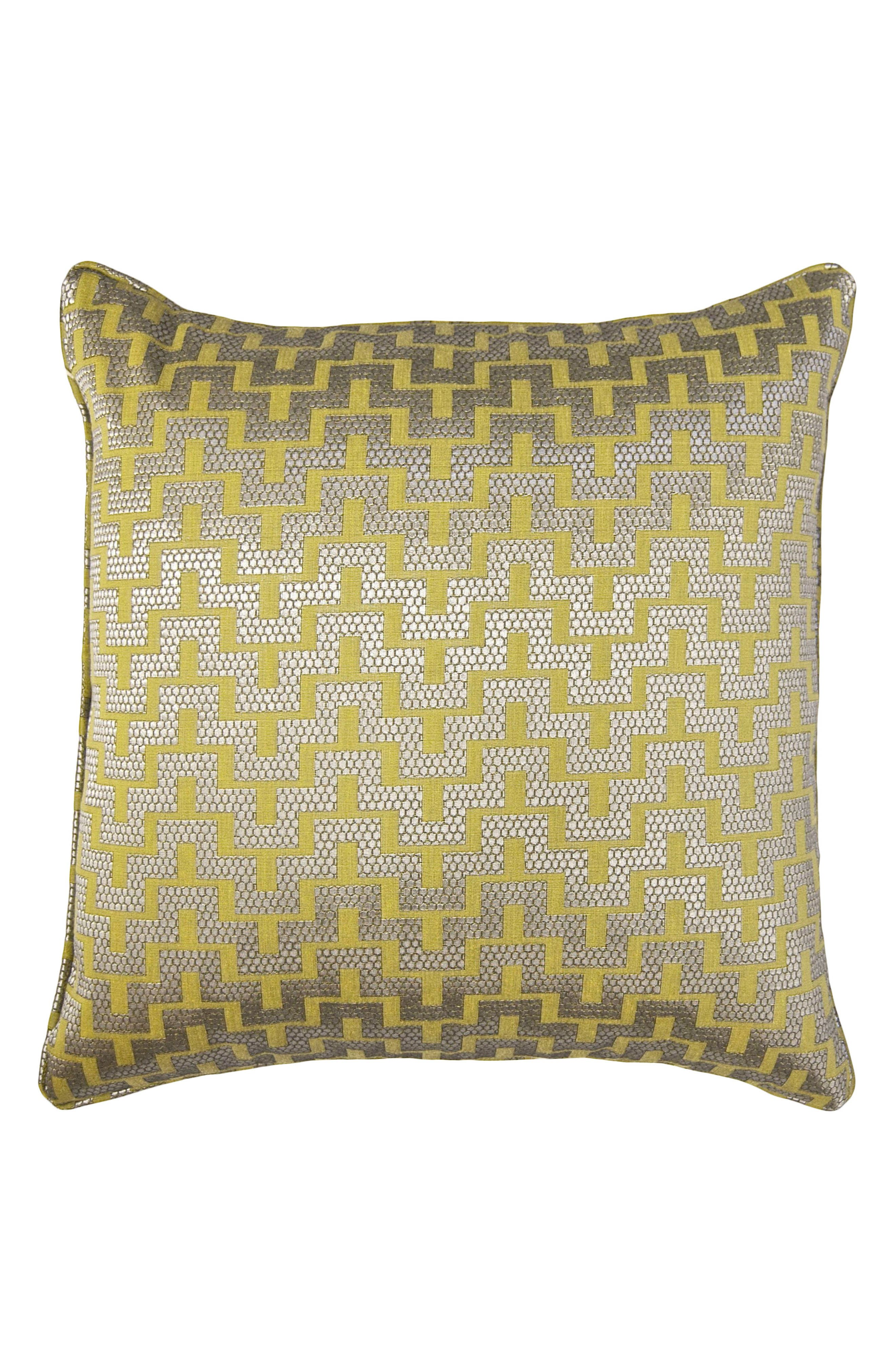 Maze Accent Pillow,                         Main,                         color, GREEN