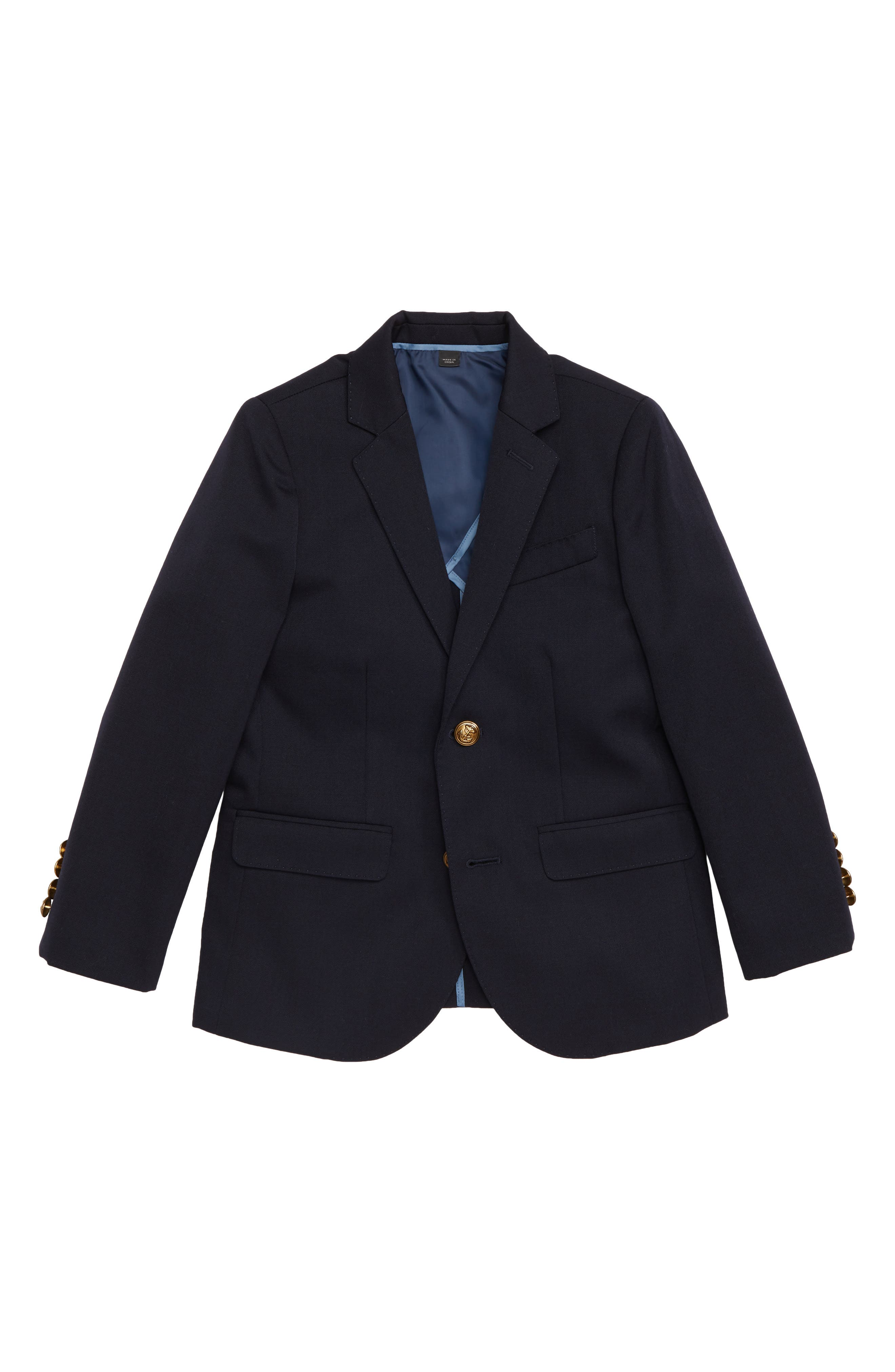 Ludlow Two-Button Wool Blazer,                         Main,                         color, NAVY