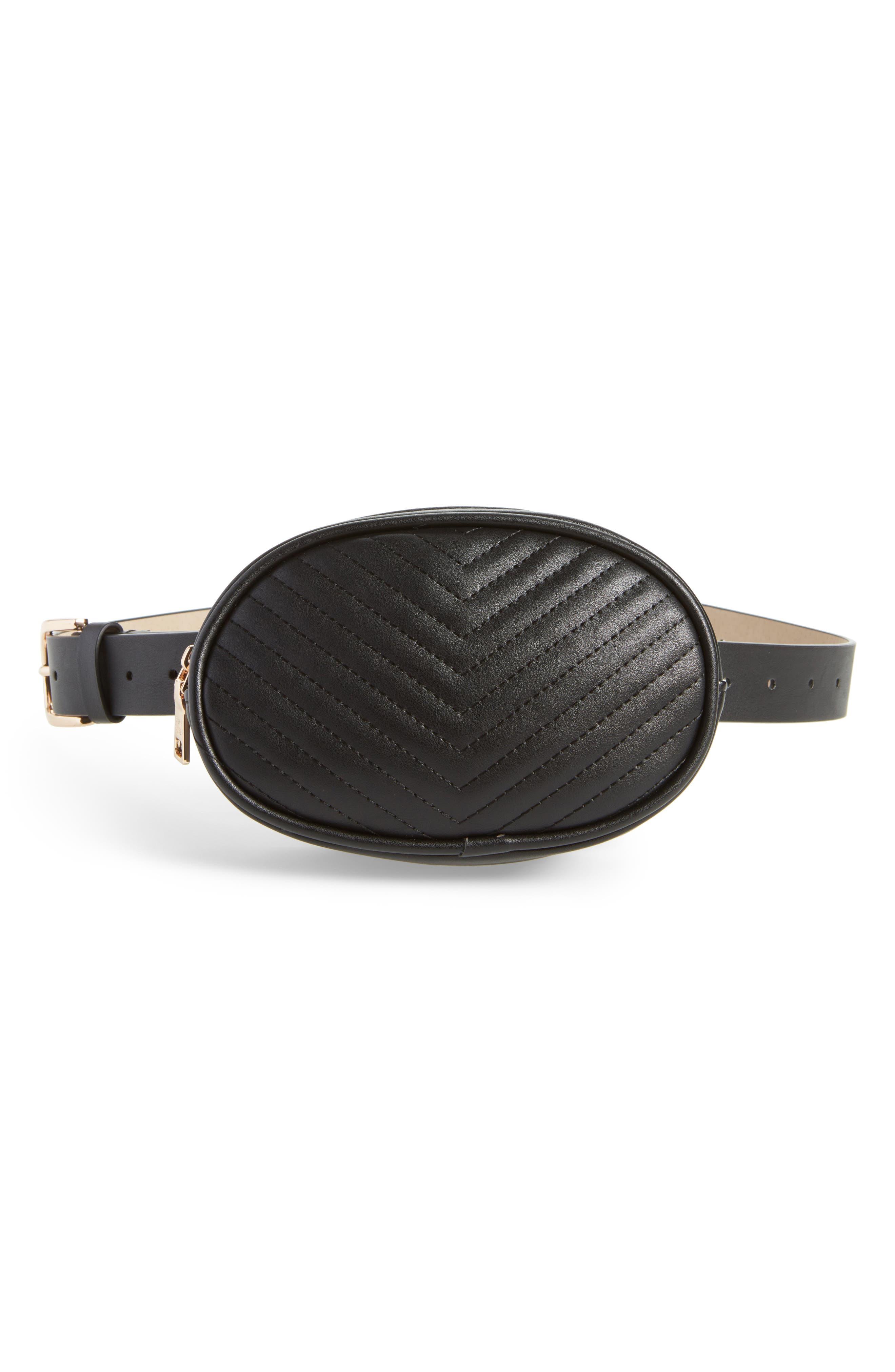 Quilted Belt Bag,                         Main,                         color, 001