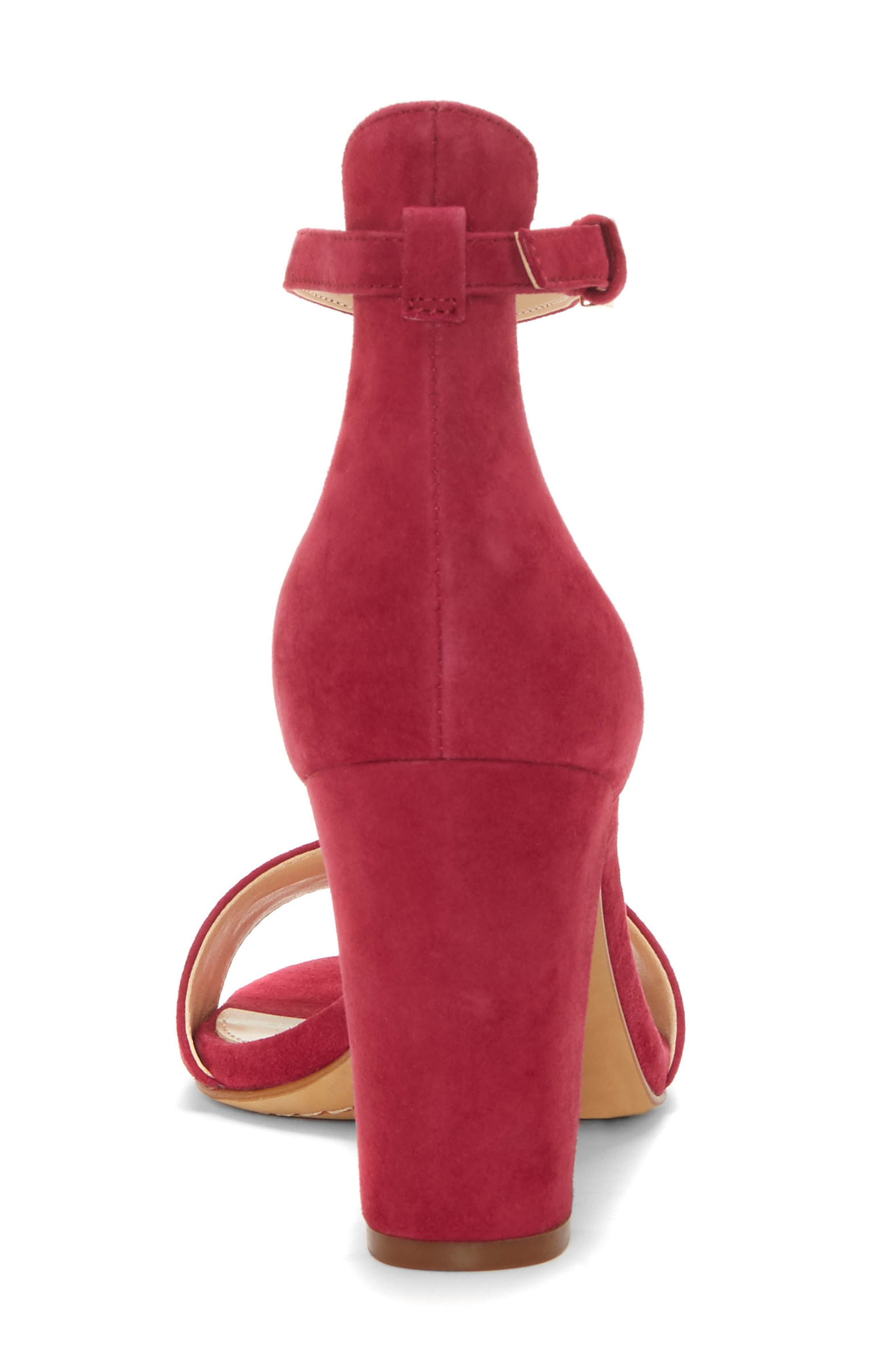 Corlina Ankle Strap Sandal,                             Alternate thumbnail 7, color,                             SWEET BERRY SUEDE