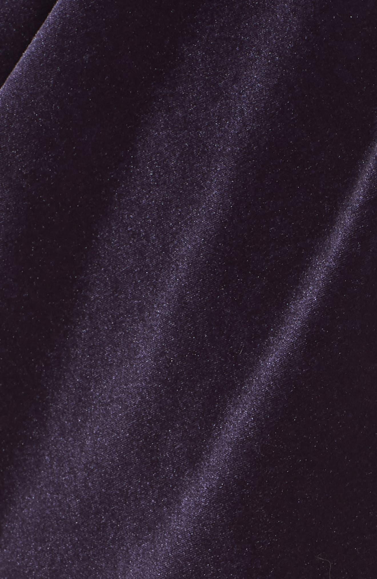 Alex Evening Velvet Sheath Dress,                             Alternate thumbnail 6, color,                             AMETHYST