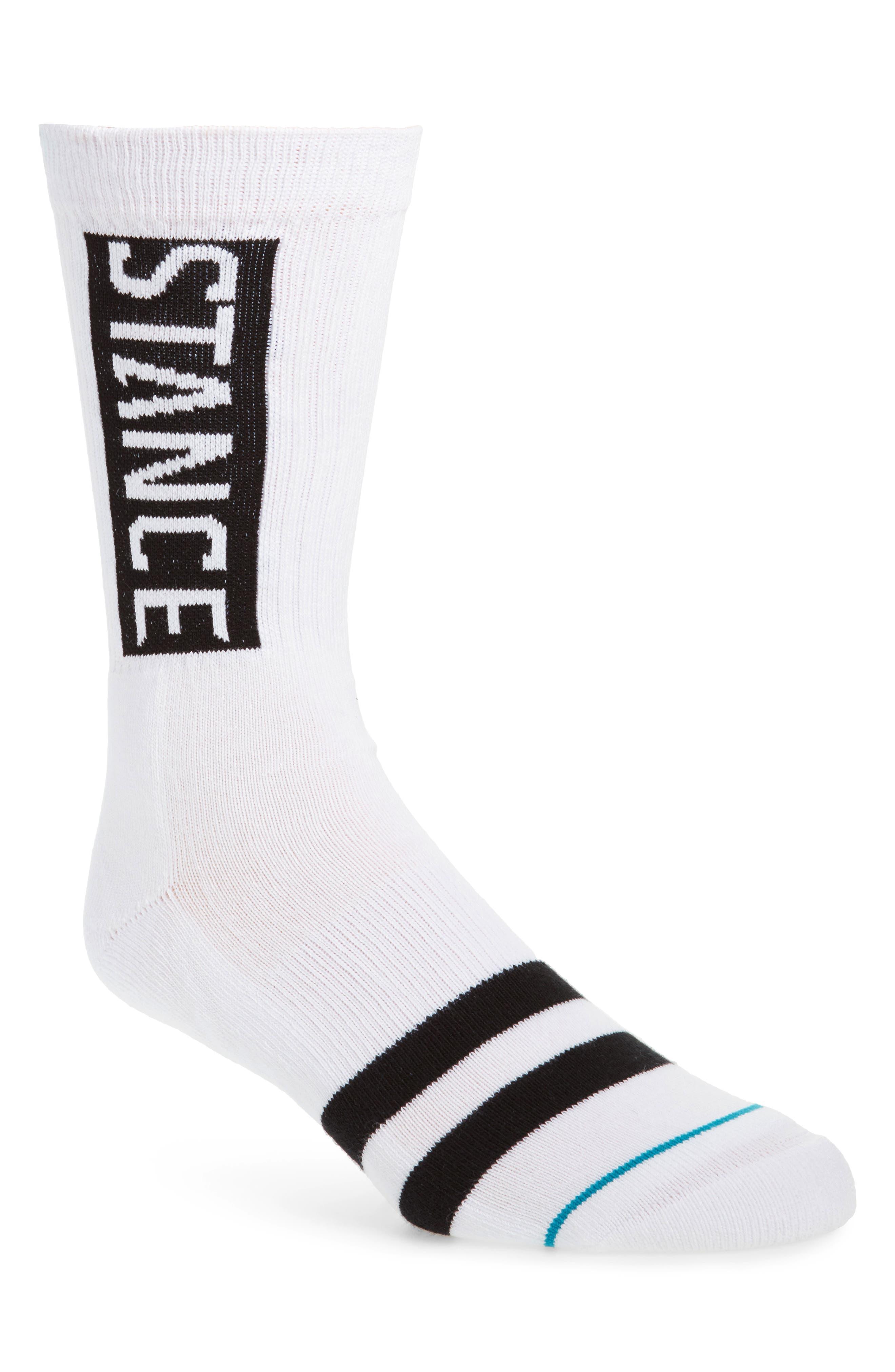 OG Crew Socks,                         Main,                         color, WHITE