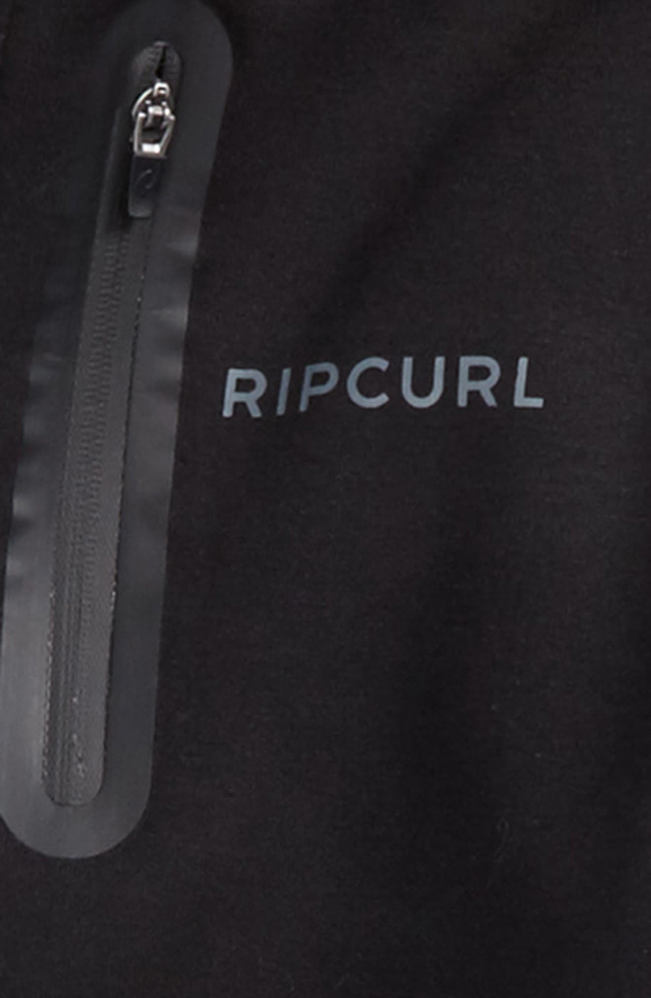 RIP CURL,                             Departed Anti Series Water Repellent Zip Hoodie,                             Alternate thumbnail 4, color,                             001
