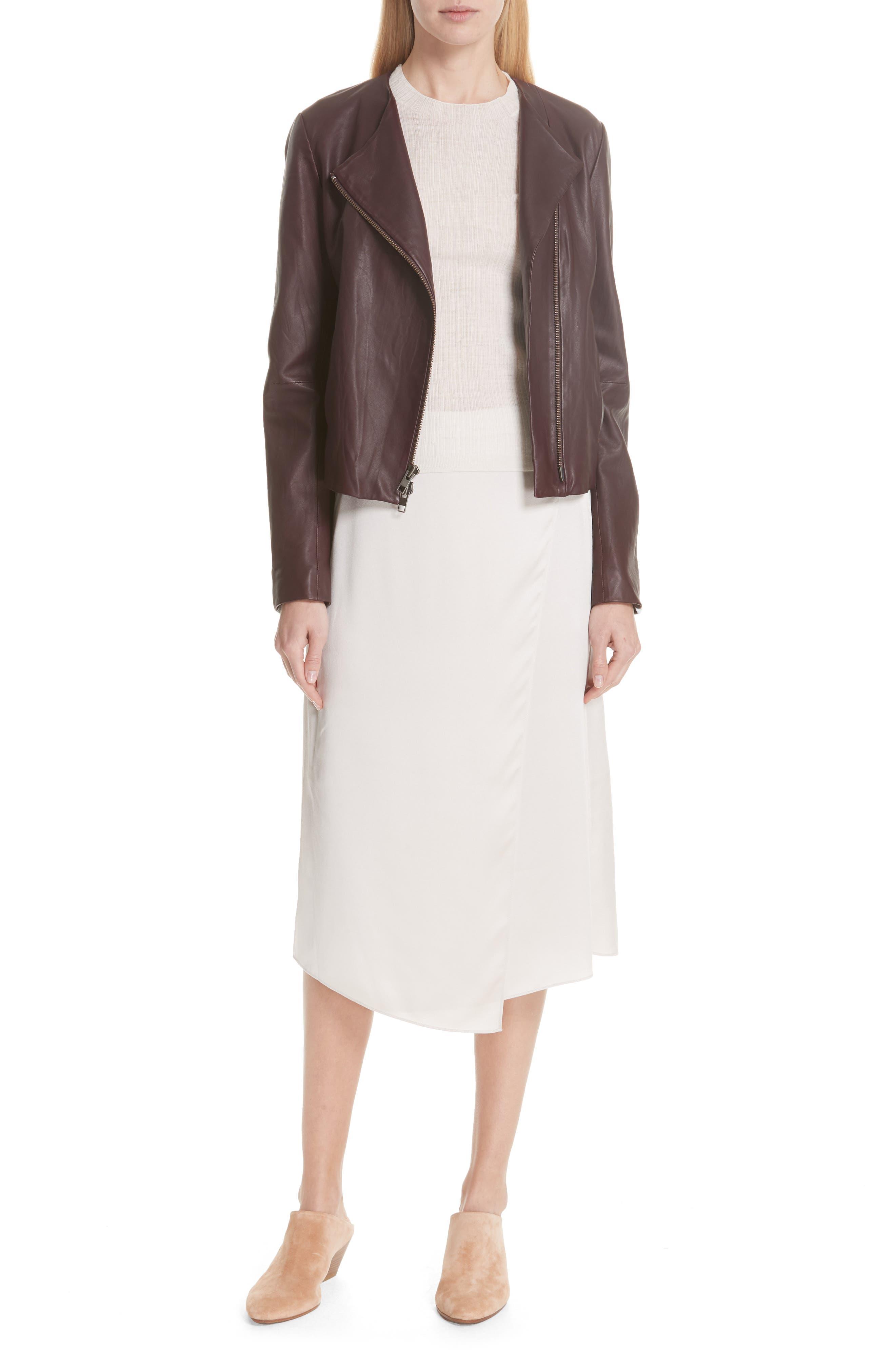 Drape Panel Silk Skirt,                             Alternate thumbnail 7, color,                             292