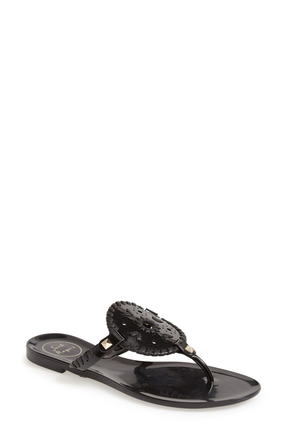 Georgica Jelly Thong Sandals in Black