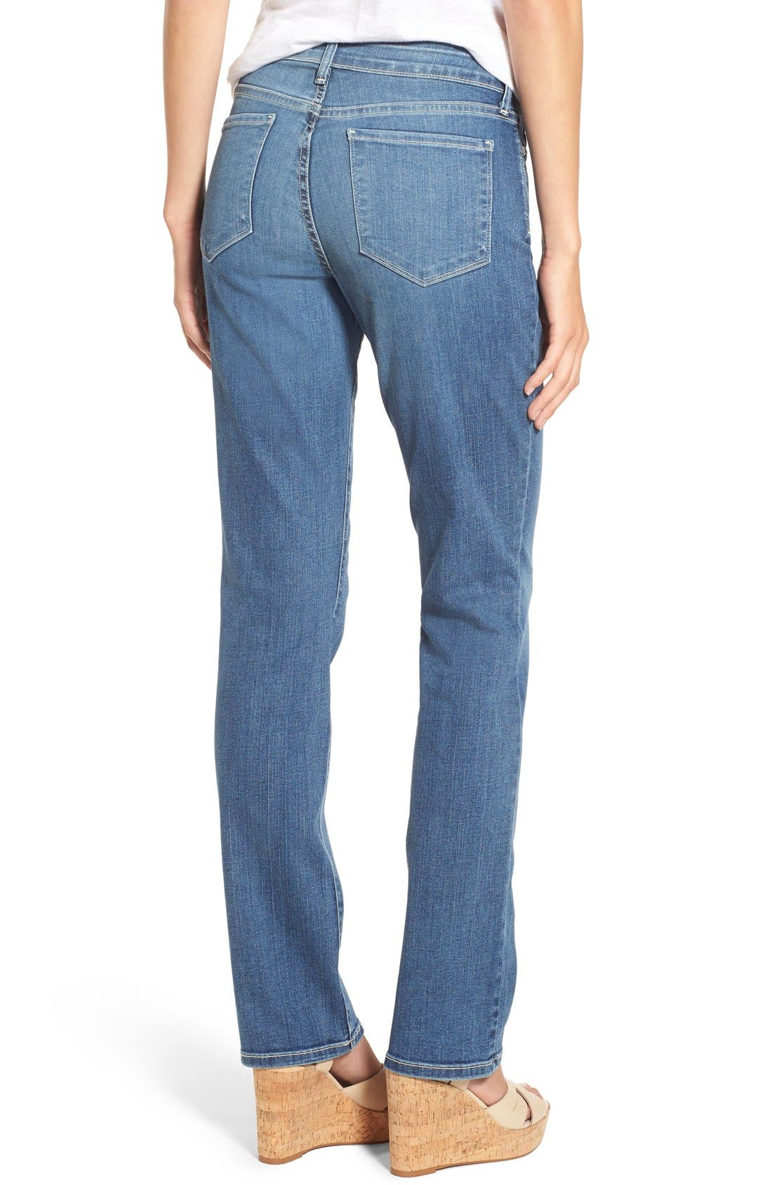 Marilyn Stretch Straight Leg Jeans,                             Alternate thumbnail 3, color,                             HEYBURN