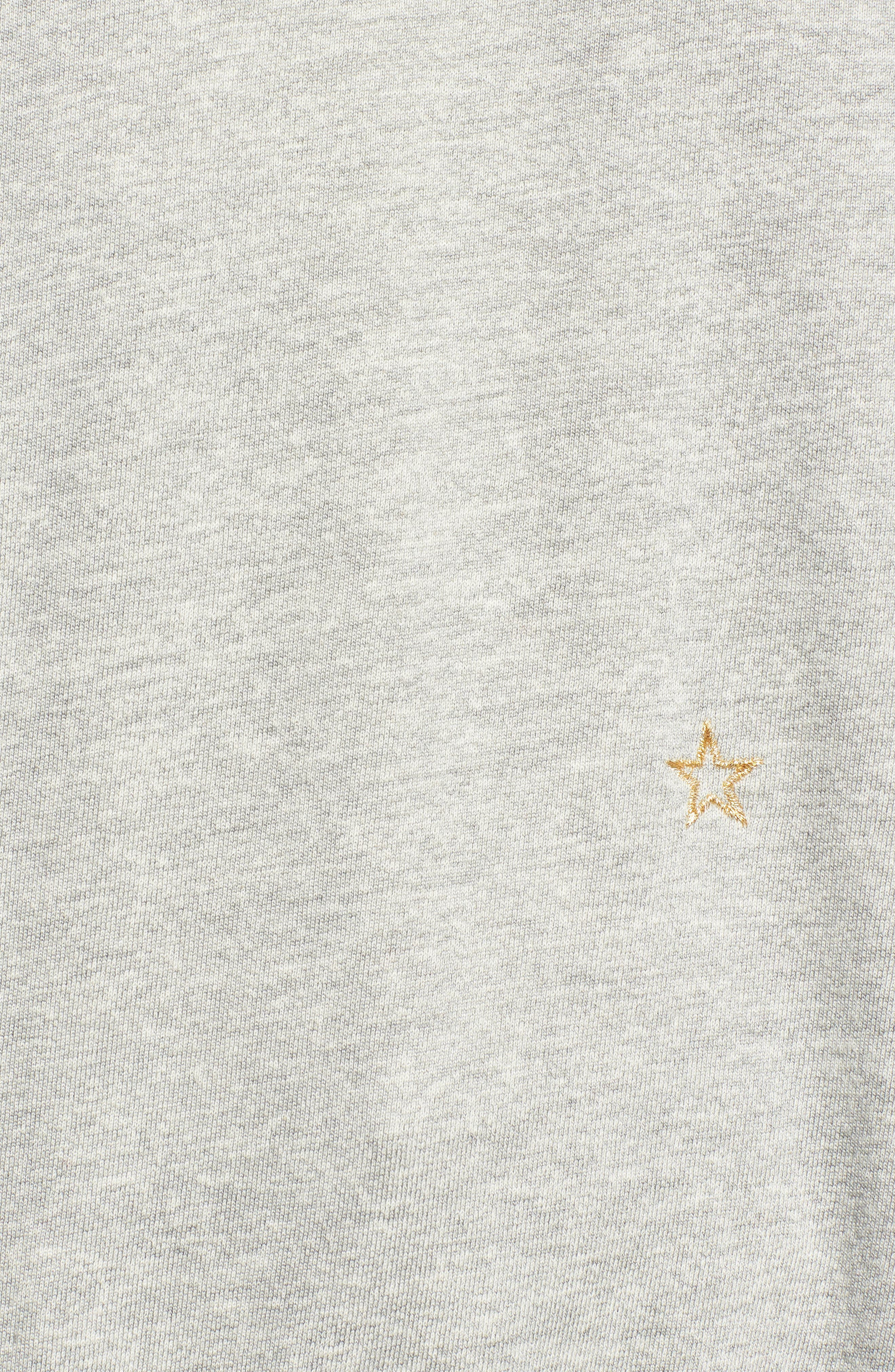 Star Embroidered Sweatshirt,                             Alternate thumbnail 5, color,                             HEATHER GREY