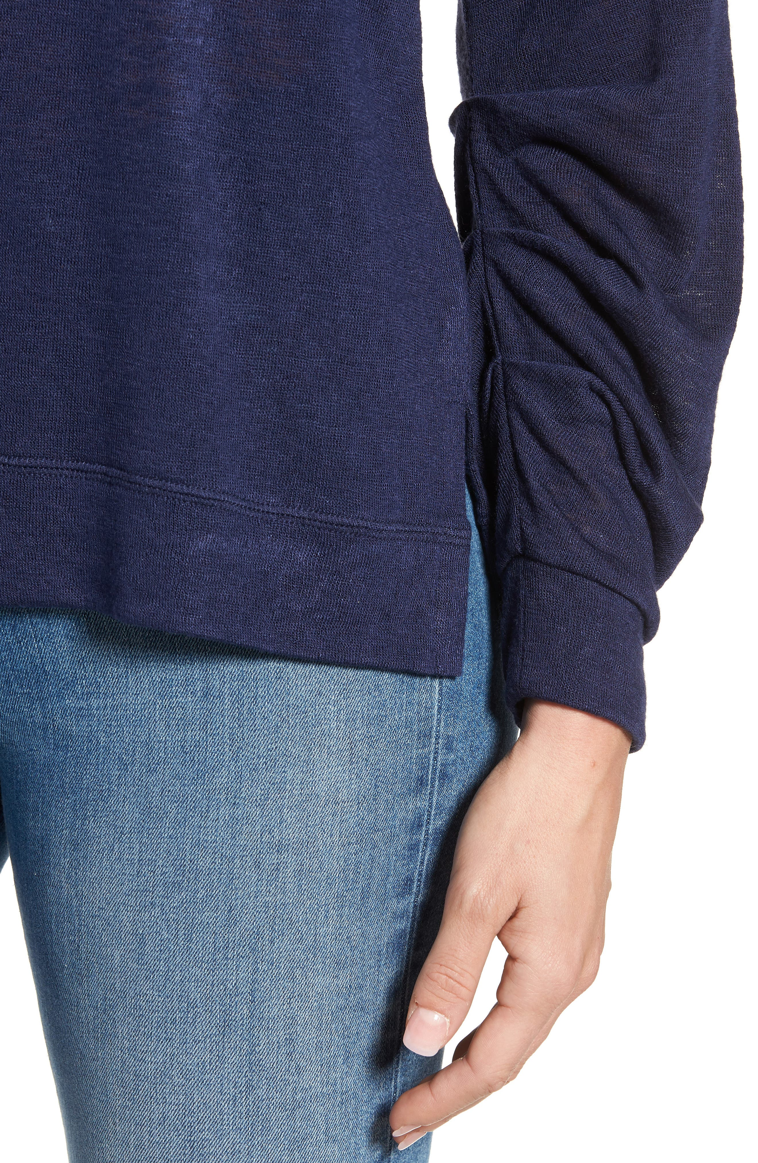 Tuck Sleeve Sweatshirt,                             Alternate thumbnail 23, color,