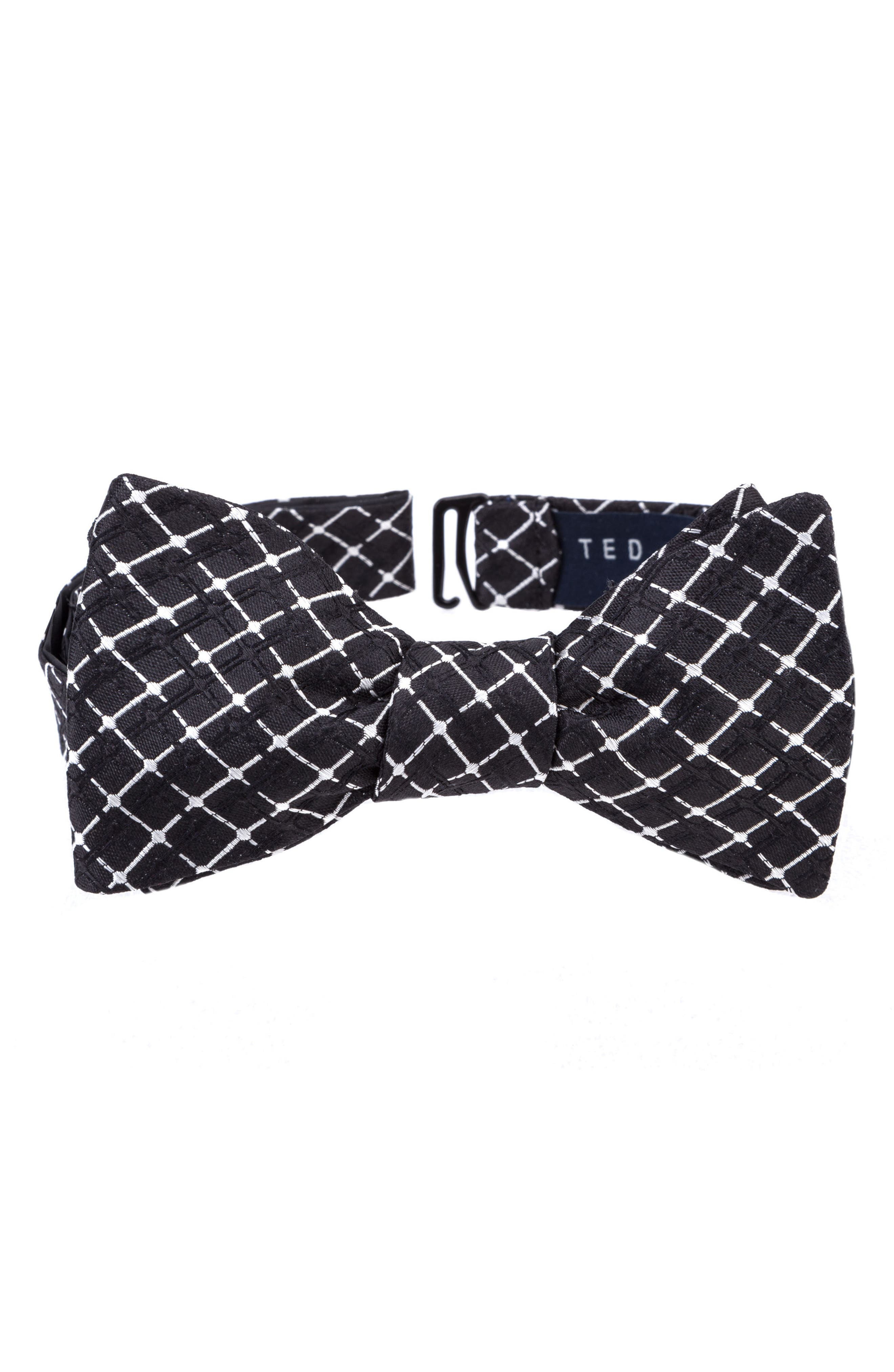 Superb Check Silk Bow Tie,                         Main,                         color, 001