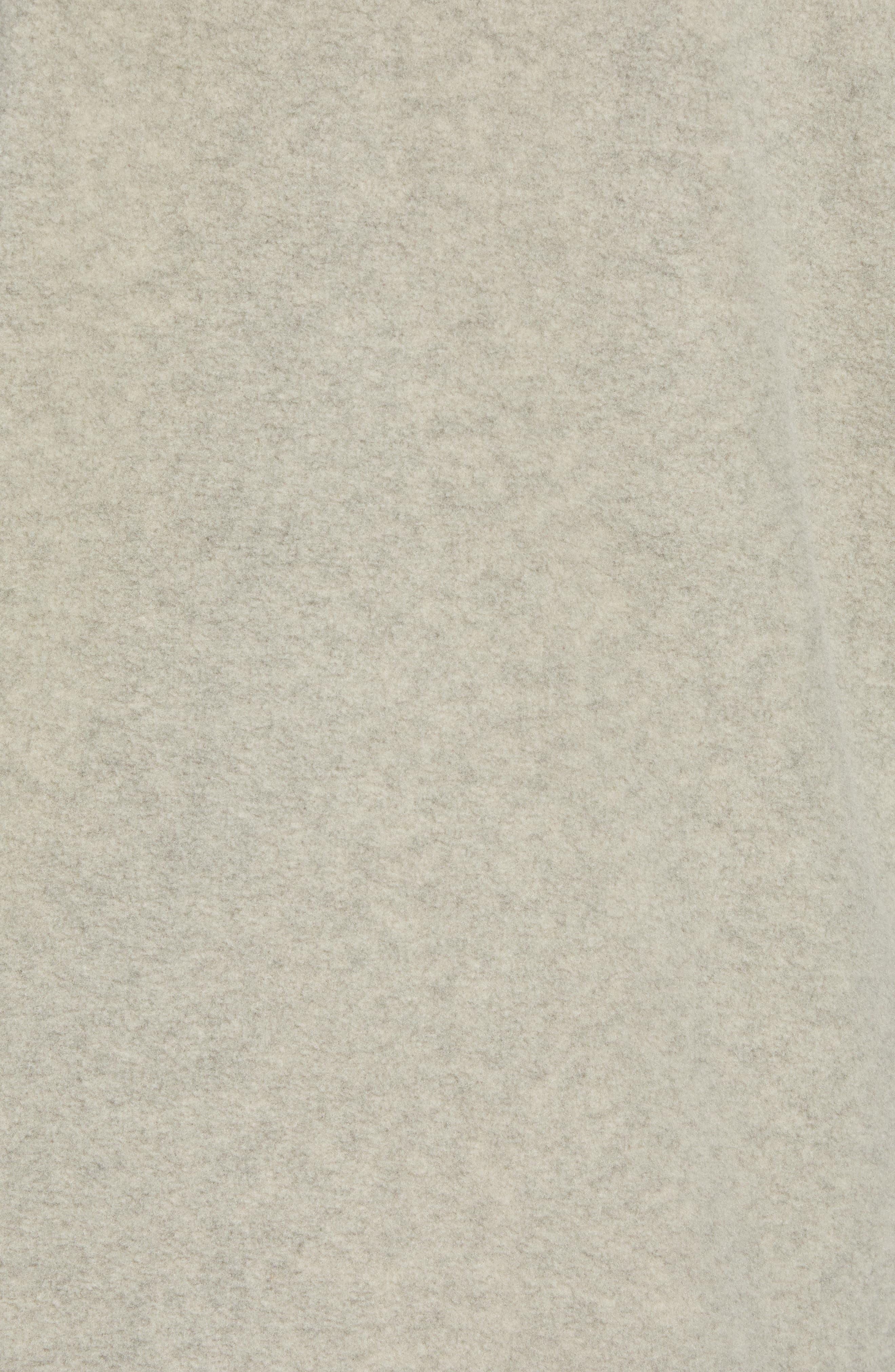 Pyrite Sweater Knit Fleece Hoodie,                             Alternate thumbnail 6, color,                             GRANITE BLUFF TAN HEATHER