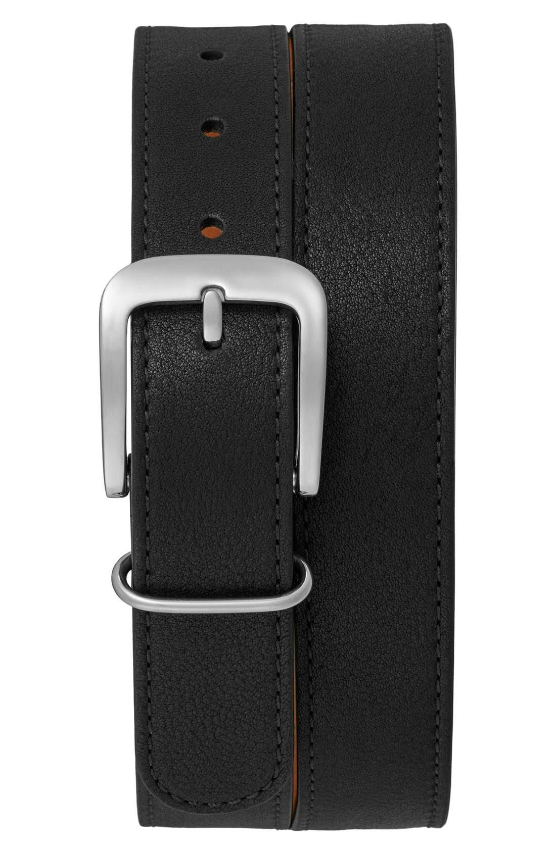 G10 Leather Belt,                             Alternate thumbnail 3, color,                             001