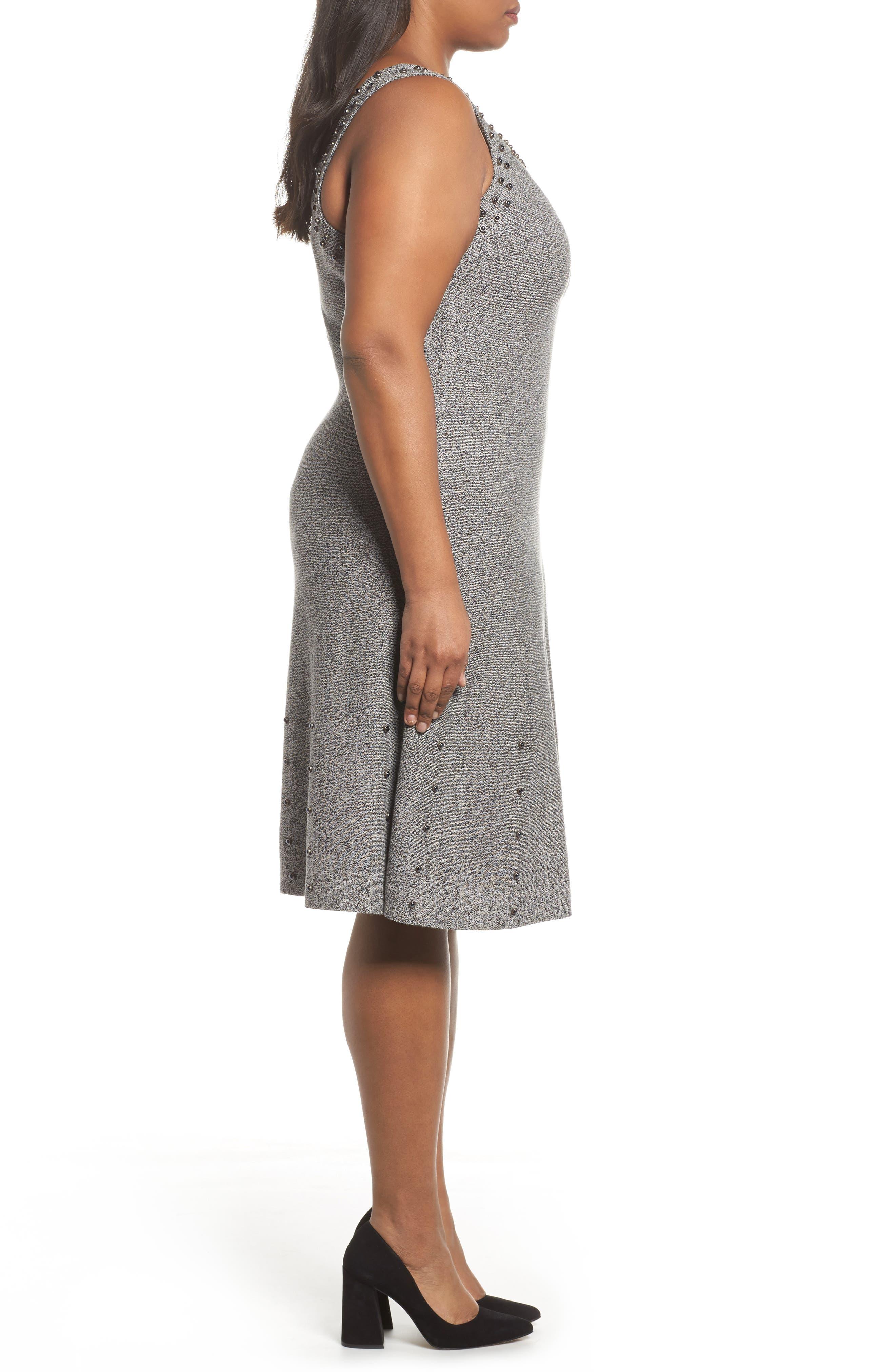 Modern Stud A-Line Dress,                             Alternate thumbnail 3, color,                             062