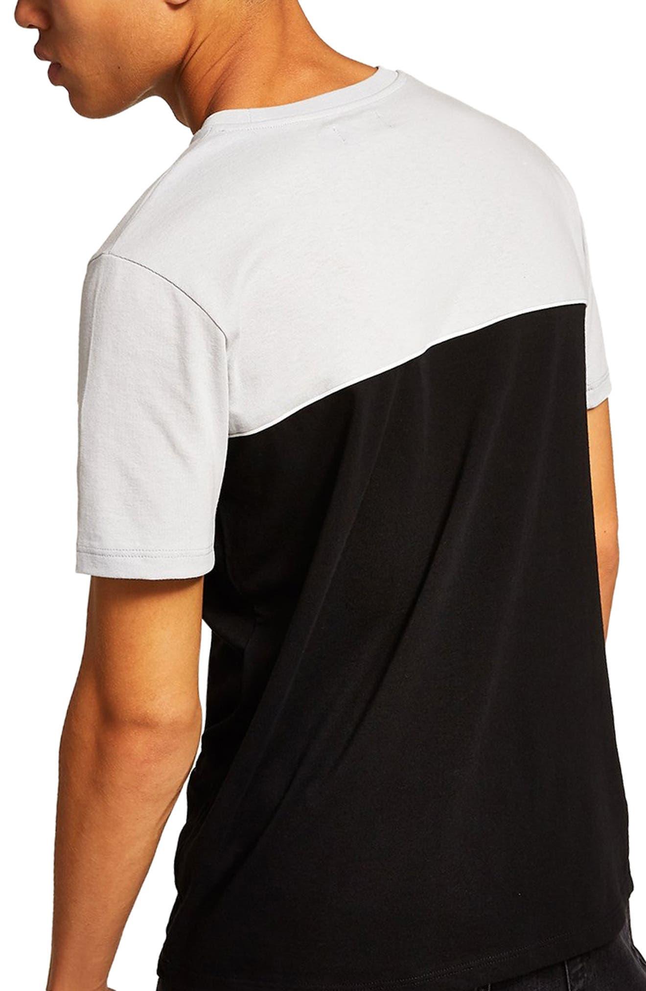 Colorblock T-Shirt,                             Alternate thumbnail 2, color,                             BLACK MULTI