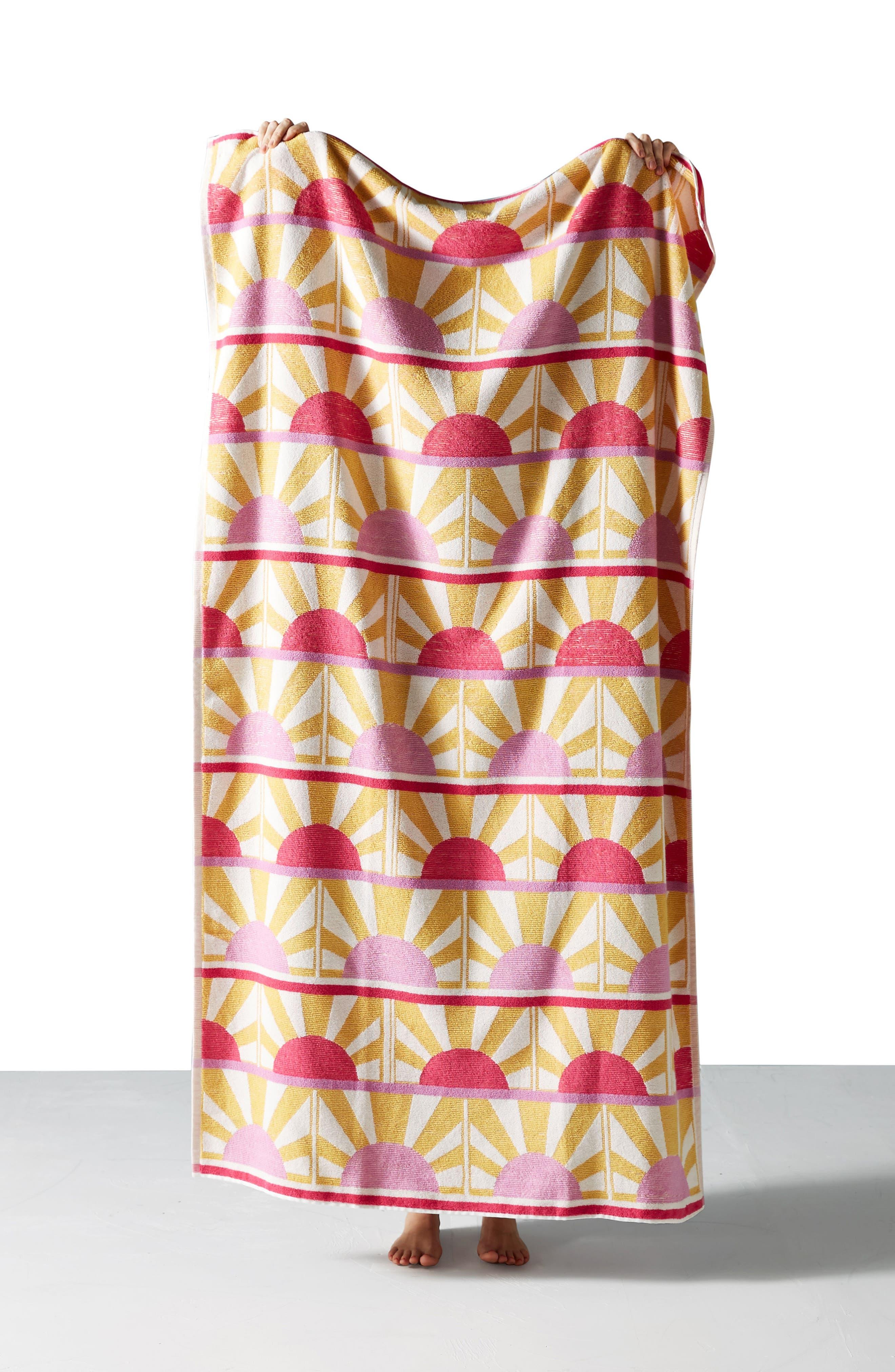 ANTHROPOLOGIE,                             Sun Star Beach Towel,                             Alternate thumbnail 3, color,                             635