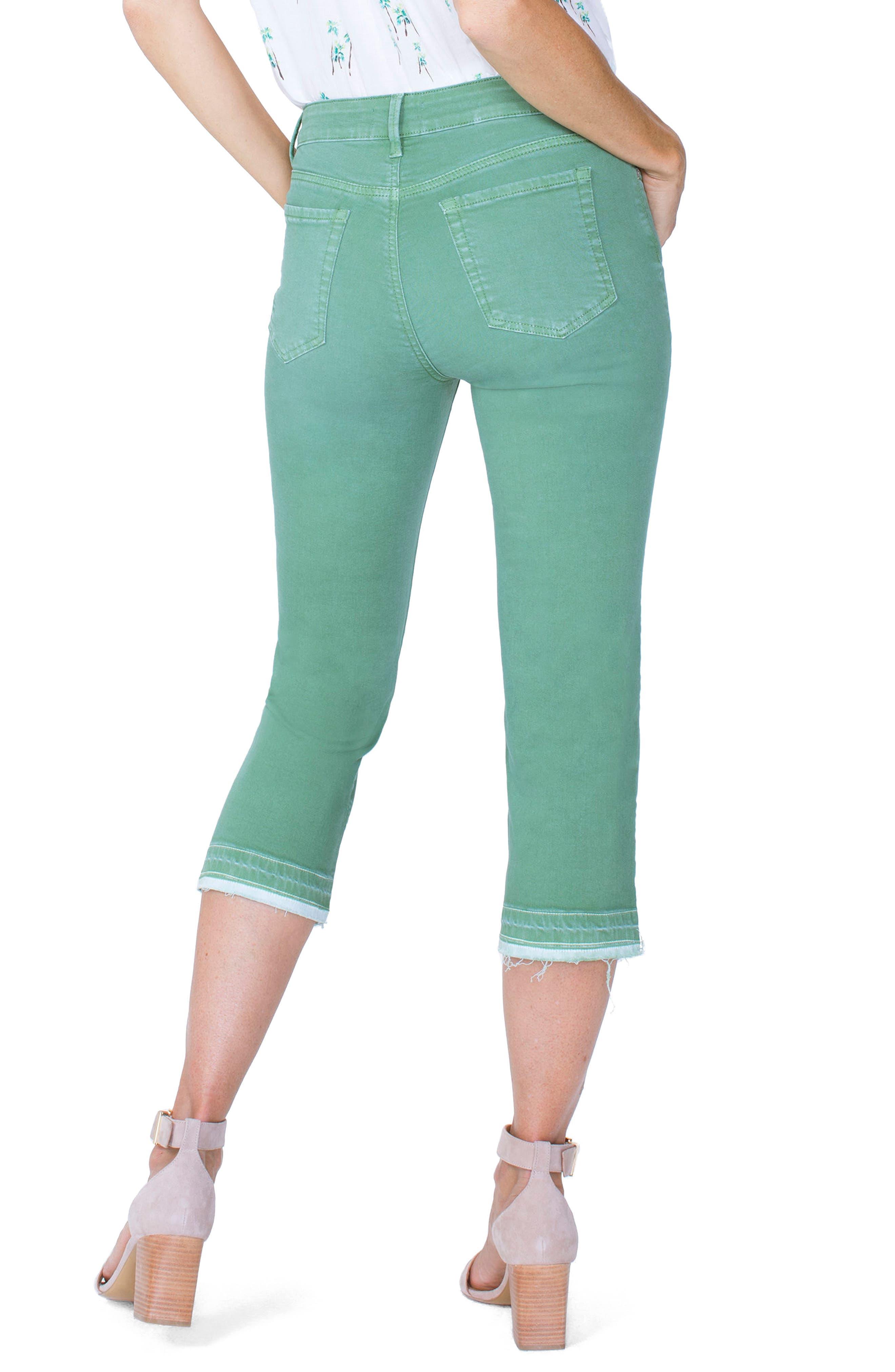 Release Hem Capri Skinny Jeans,                             Alternate thumbnail 2, color,                             CACTUS