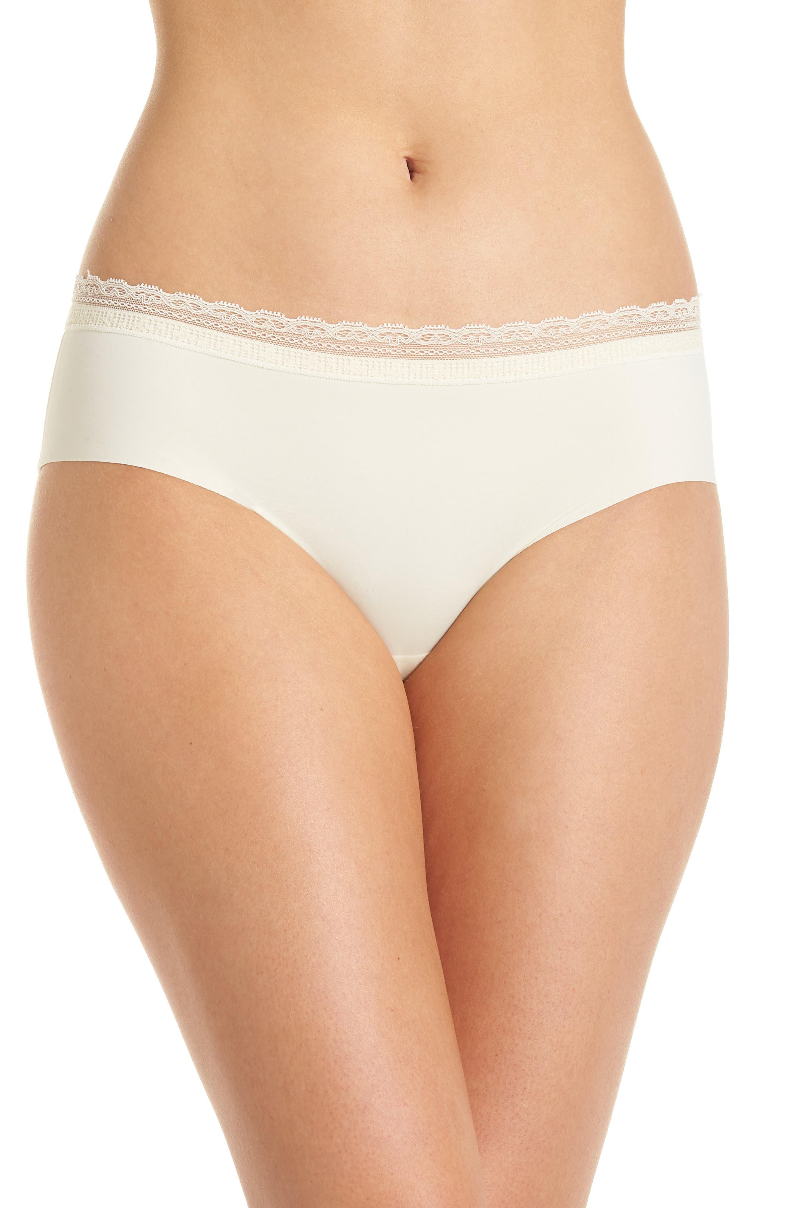 NAKED Lace-Trim Seamless Hipster in Whipped Cream