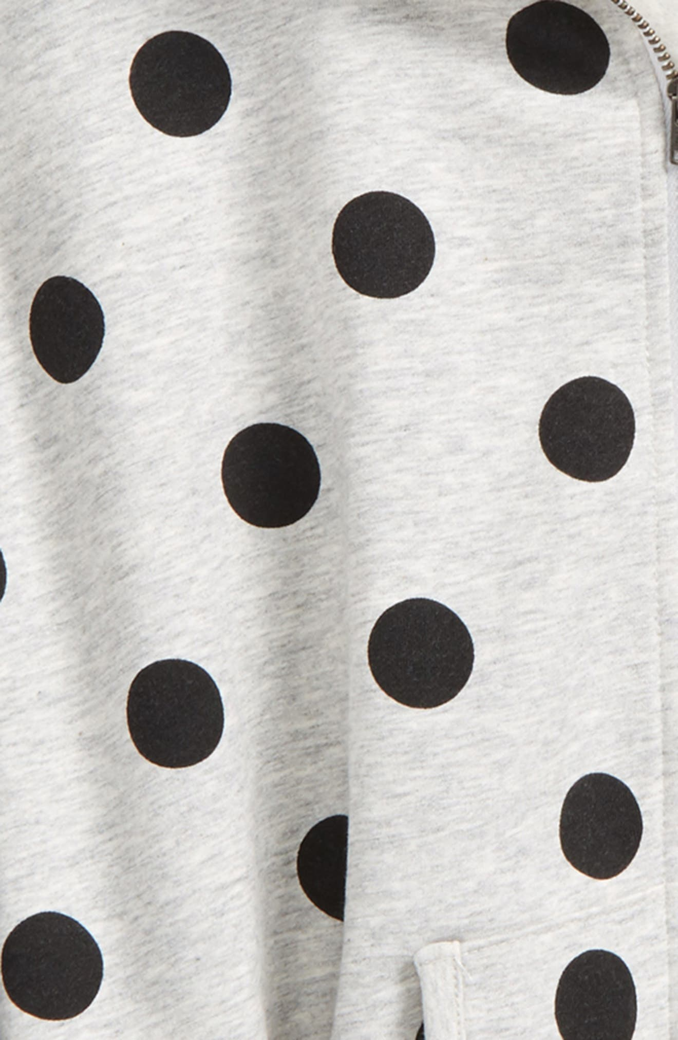 Polka Dot Hooded Cape,                             Alternate thumbnail 2, color,                             050