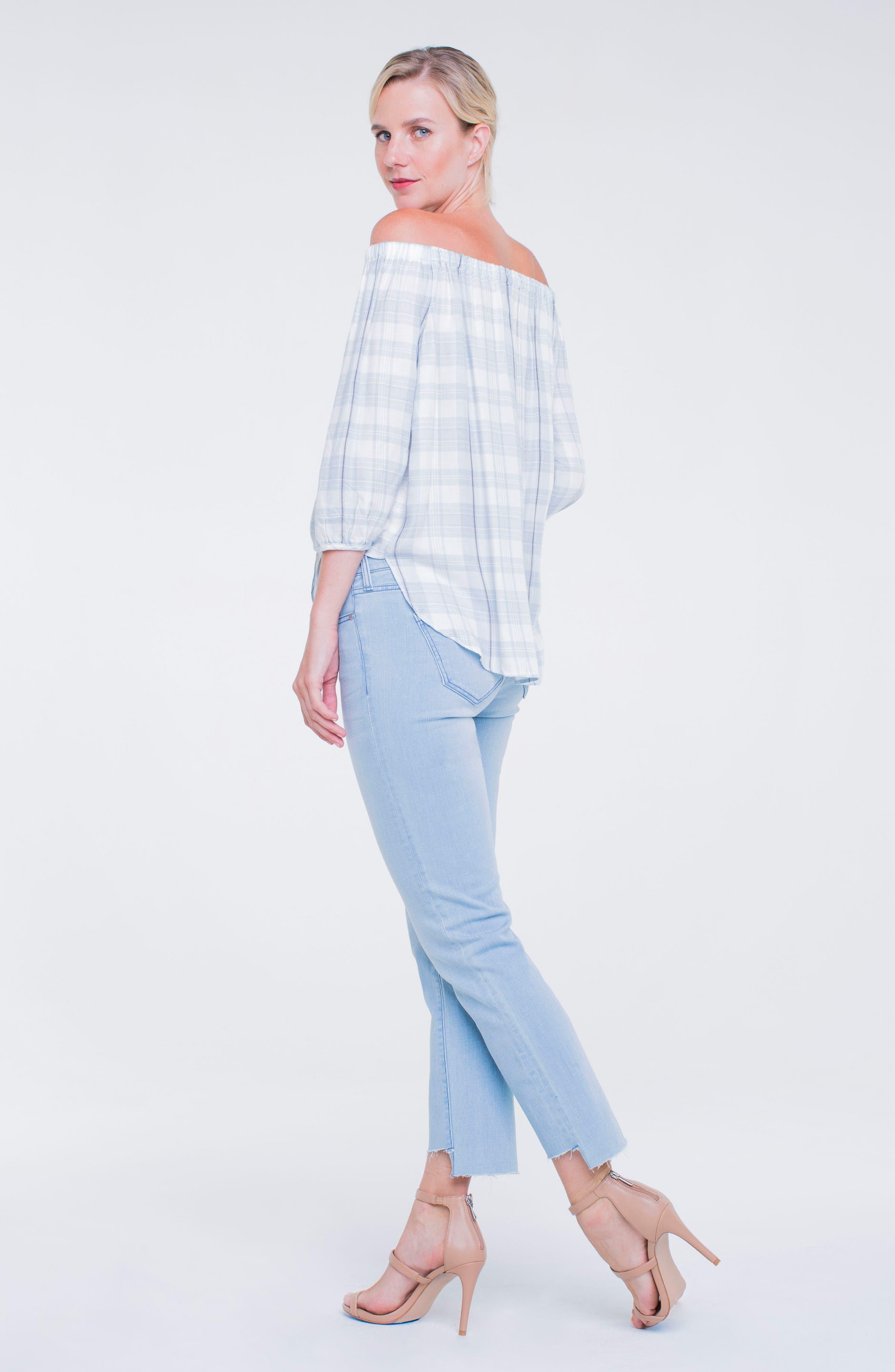 Jayden Crop Straight Leg Jeans,                             Alternate thumbnail 5, color,                             401