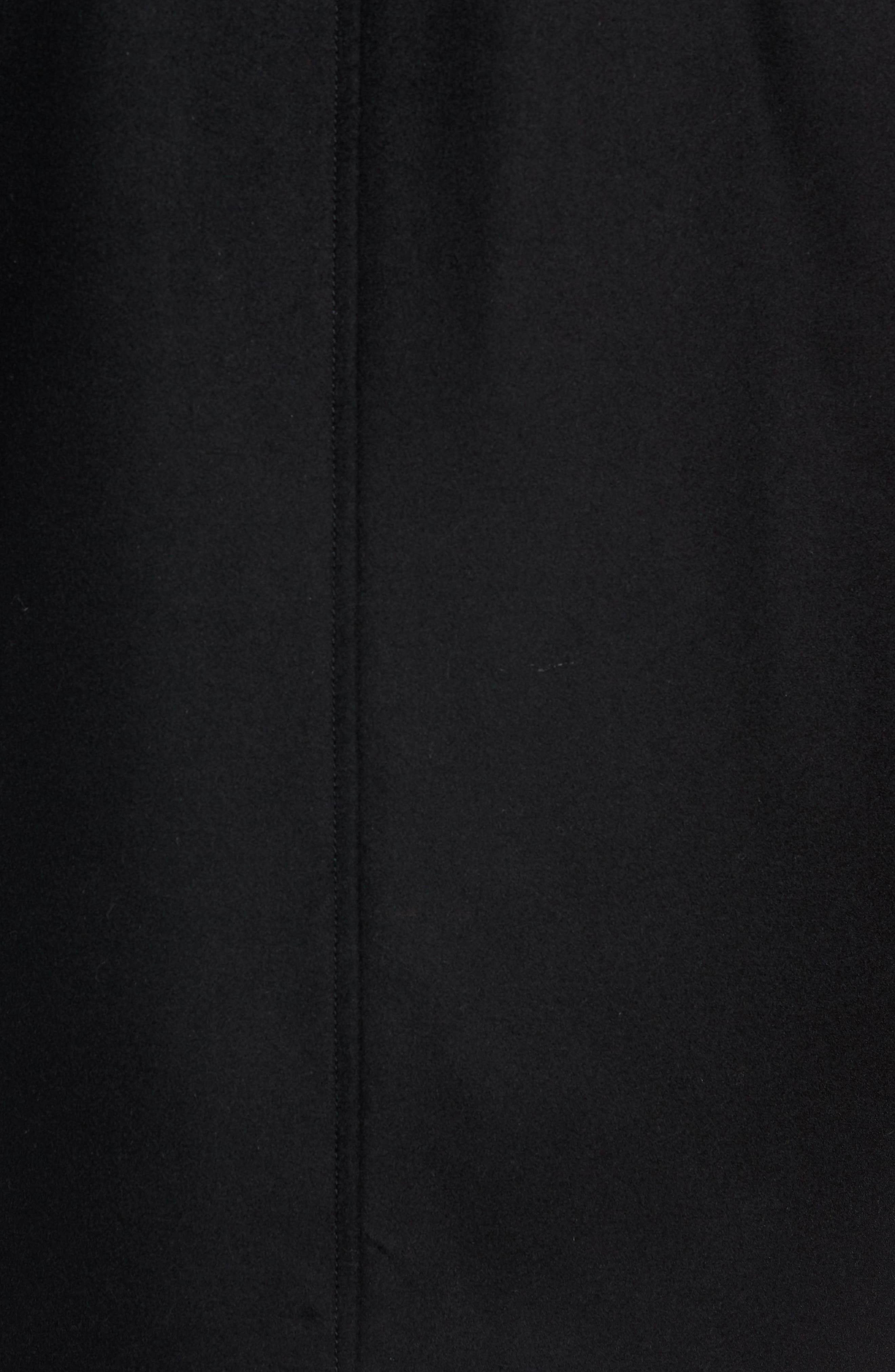 Coxtan Wool Regular Fit Car Coat,                             Alternate thumbnail 7, color,                             BLACK