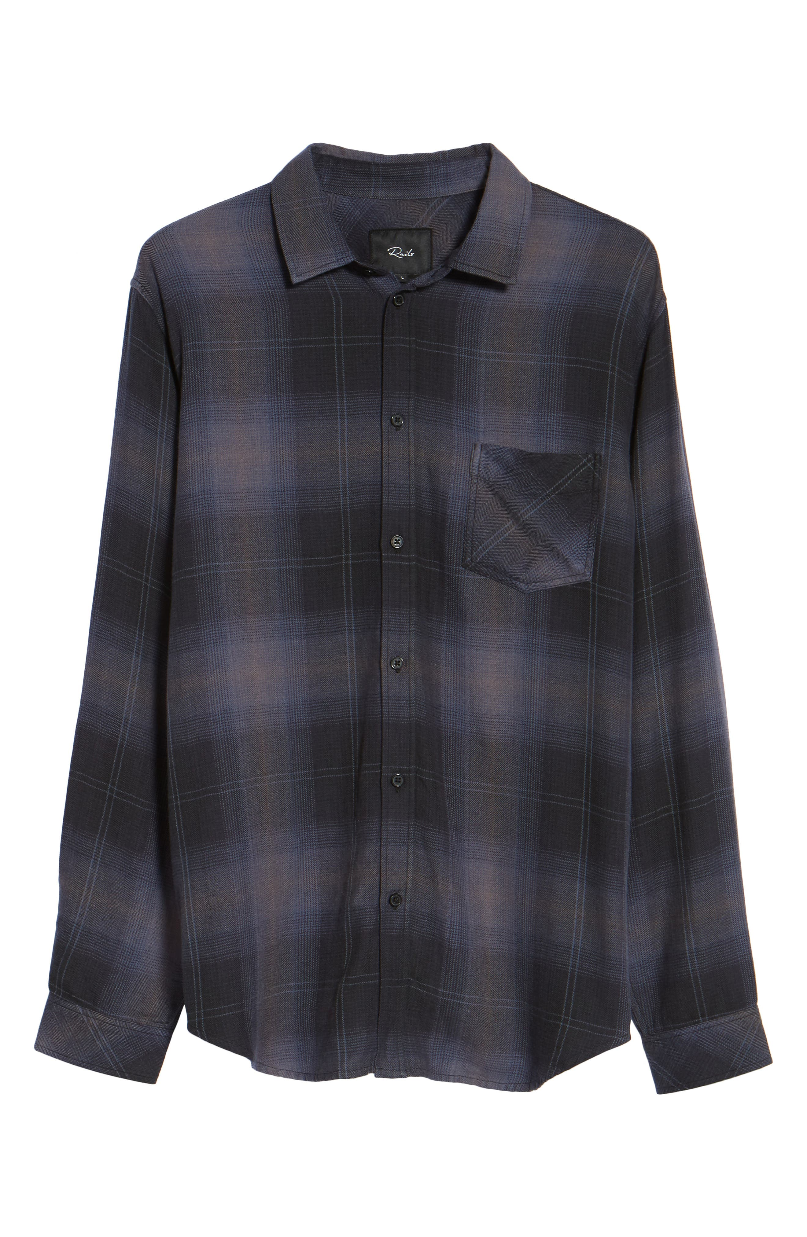 Lennox Sport Shirt,                             Alternate thumbnail 6, color,                             CHARCOAL/ BLACK