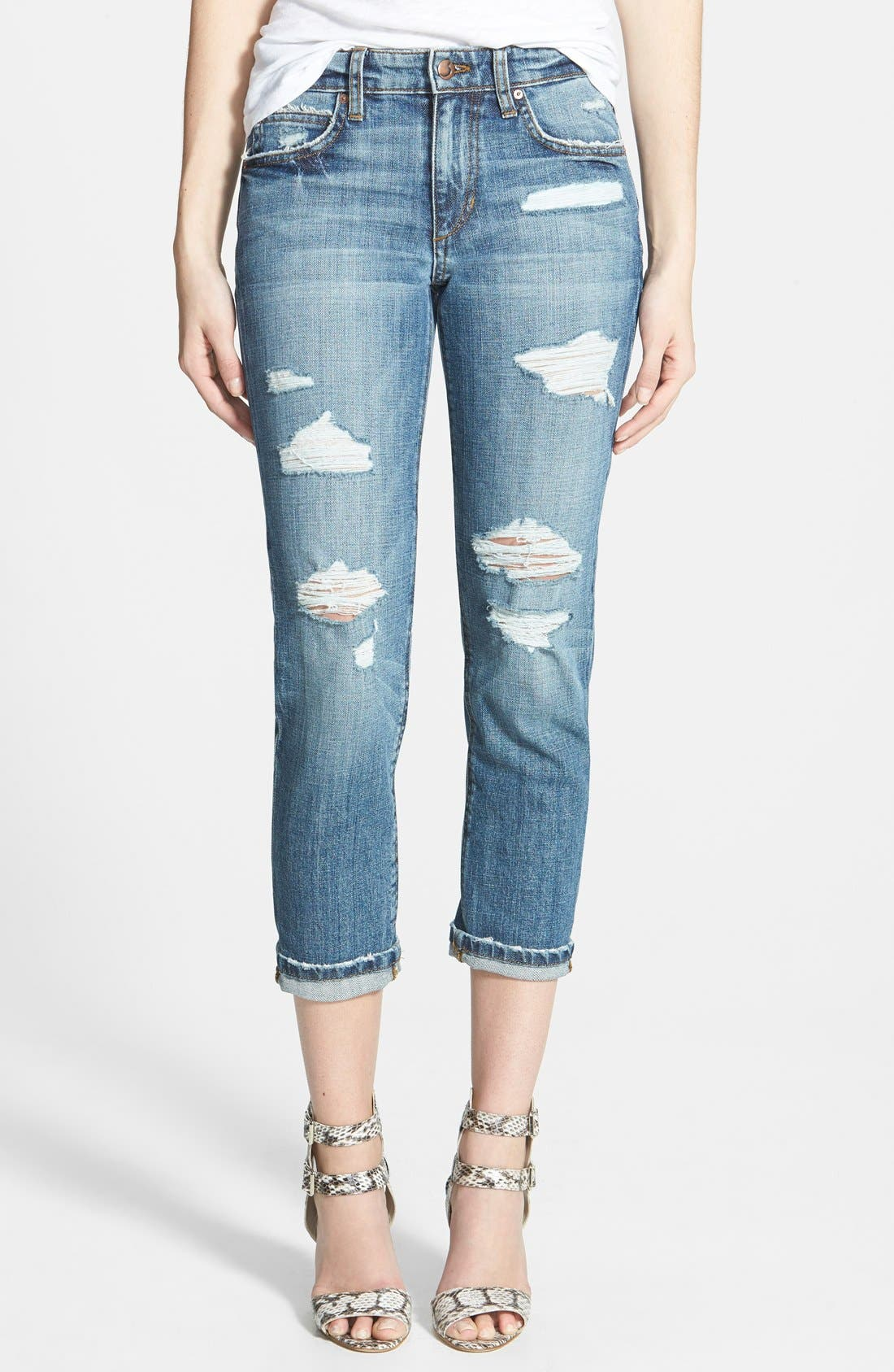 Slim Boyfriend Crop Jeans,                             Main thumbnail 1, color,                             400
