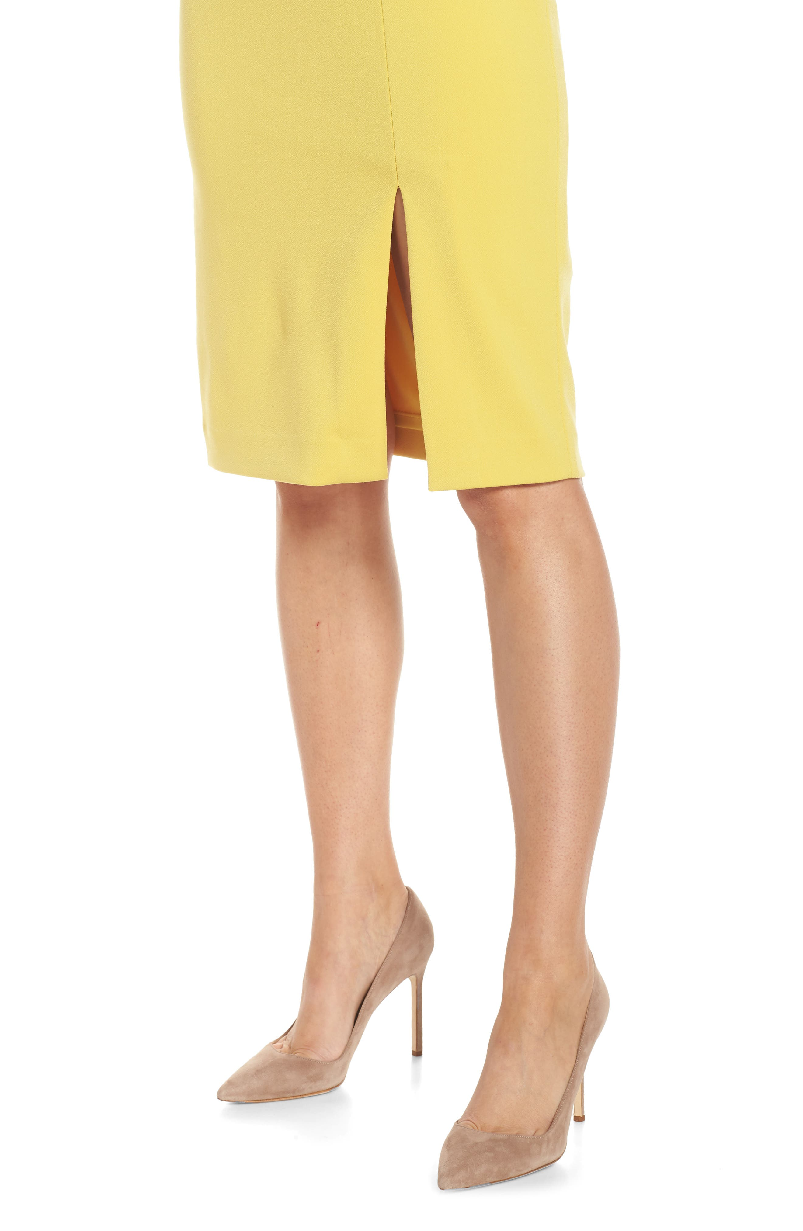 One-Shoulder Sheath Dress,                             Alternate thumbnail 4, color,                             YELLOW