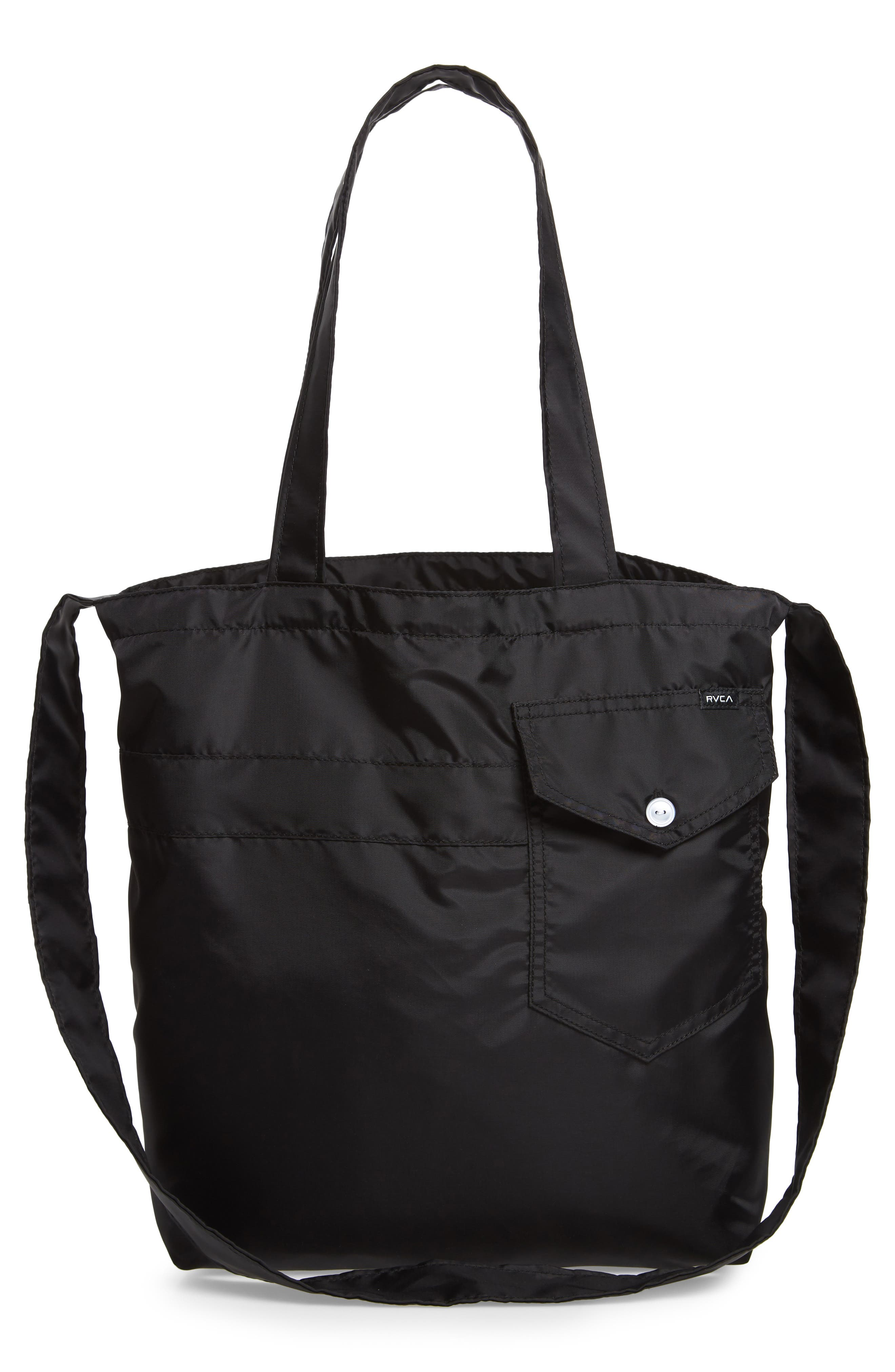 Bomber Nylon Tote,                             Alternate thumbnail 3, color,                             001