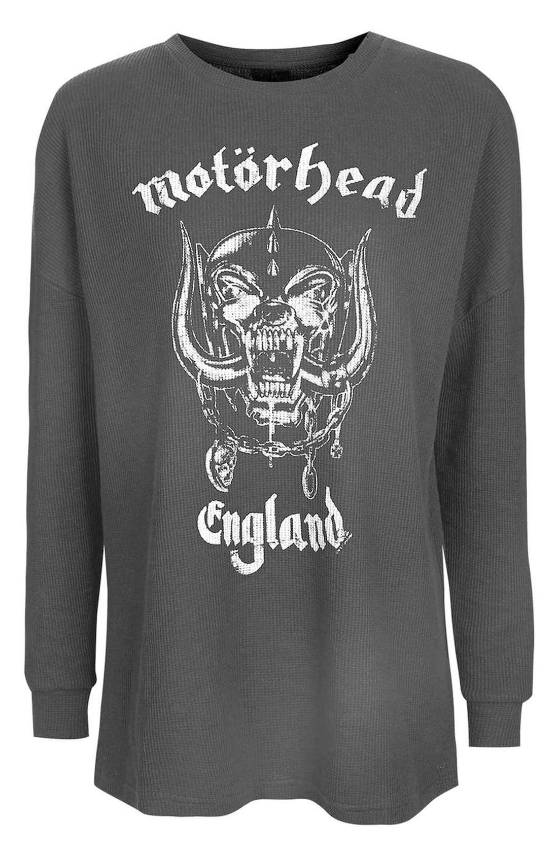 TOPSHOP,                             by And Finally Motorhead Sweatshirt,                             Alternate thumbnail 3, color,                             001