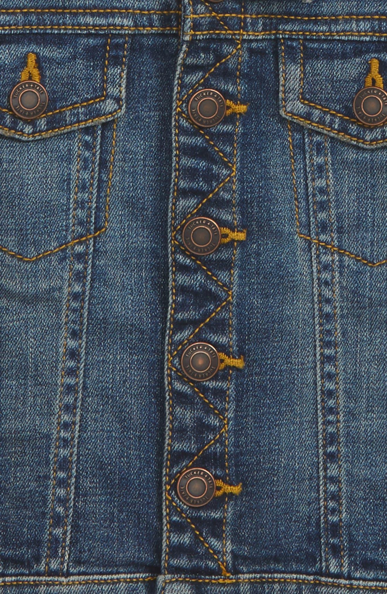 Hooded Denim Jacket,                         Main,                         color, 420