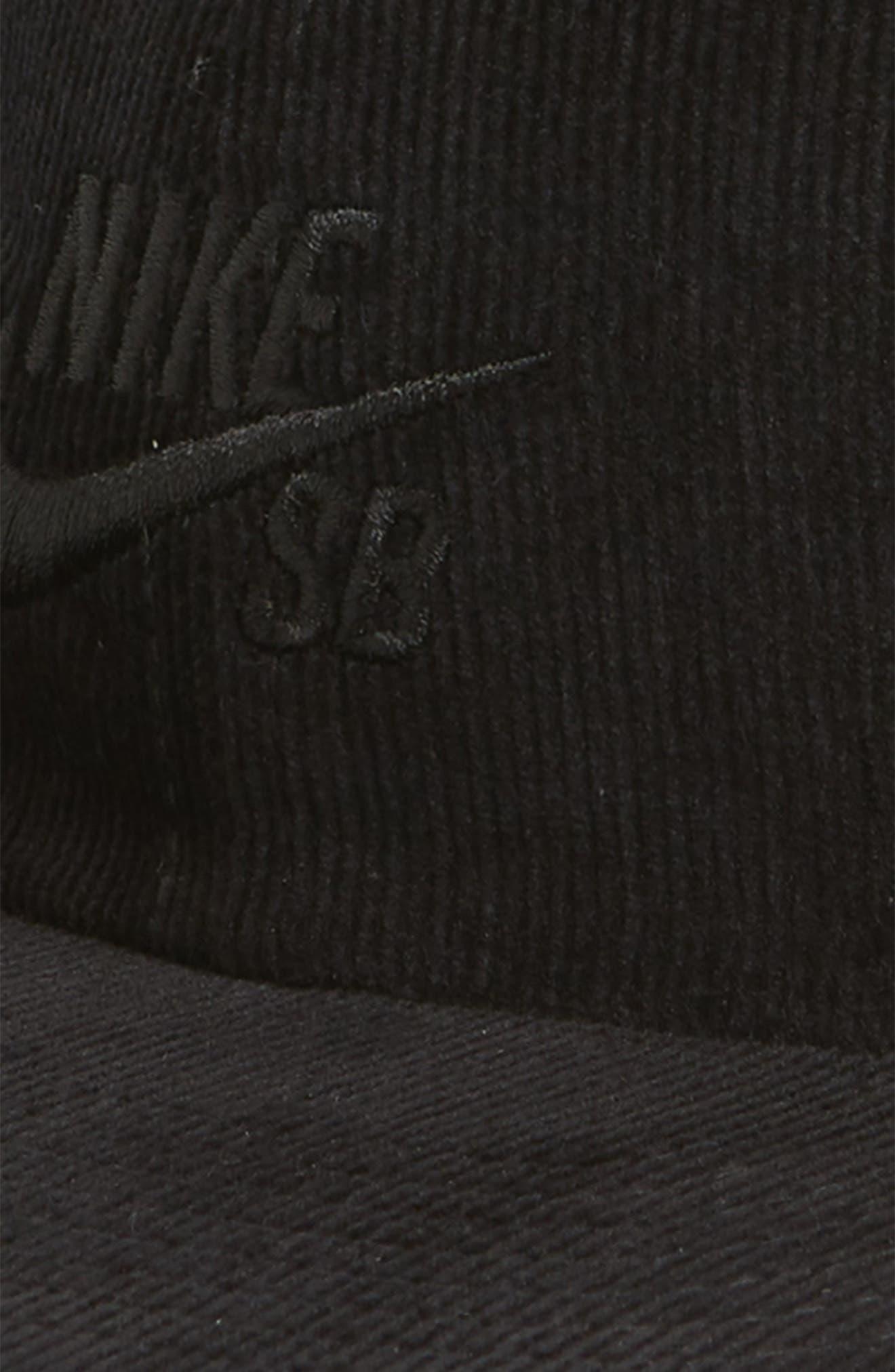 NIKE SB,                             H86 Flatbill Baseball Cap,                             Alternate thumbnail 3, color,                             BLACK/ BLACK