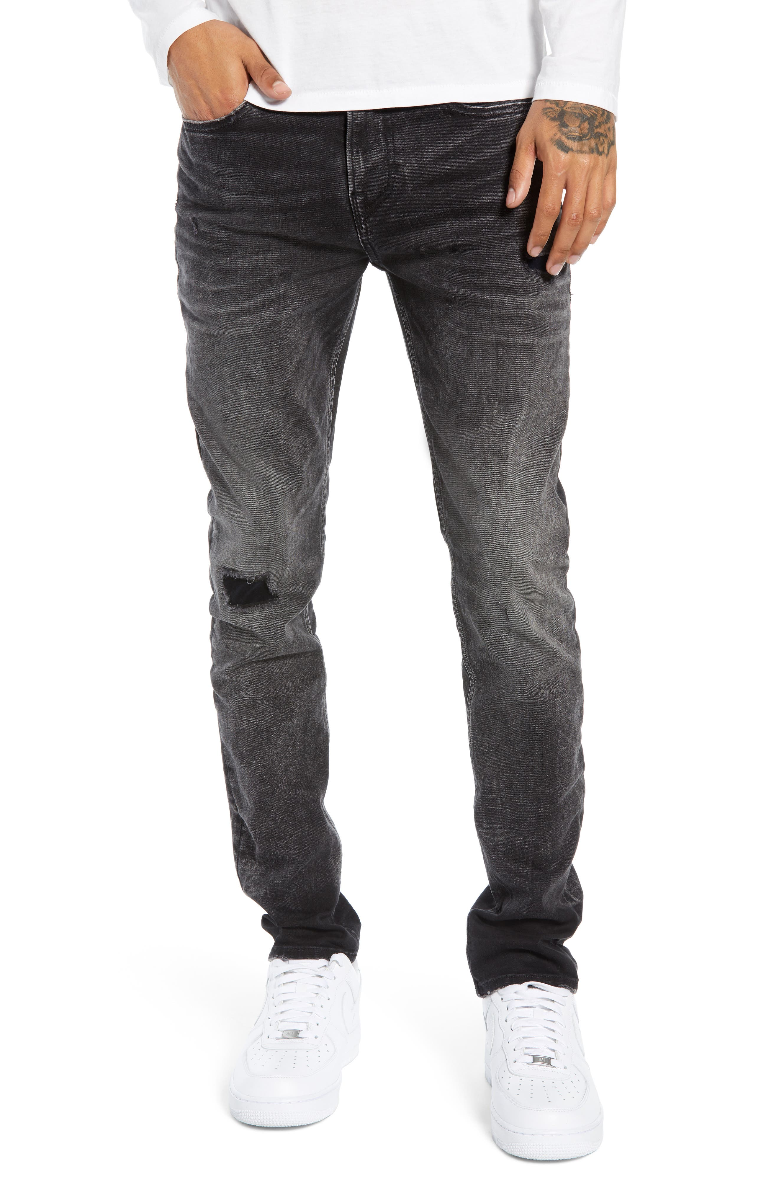 HUDSON JEANS,                             Axl Skinny Fit Jeans,                             Main thumbnail 1, color,                             DELUXE
