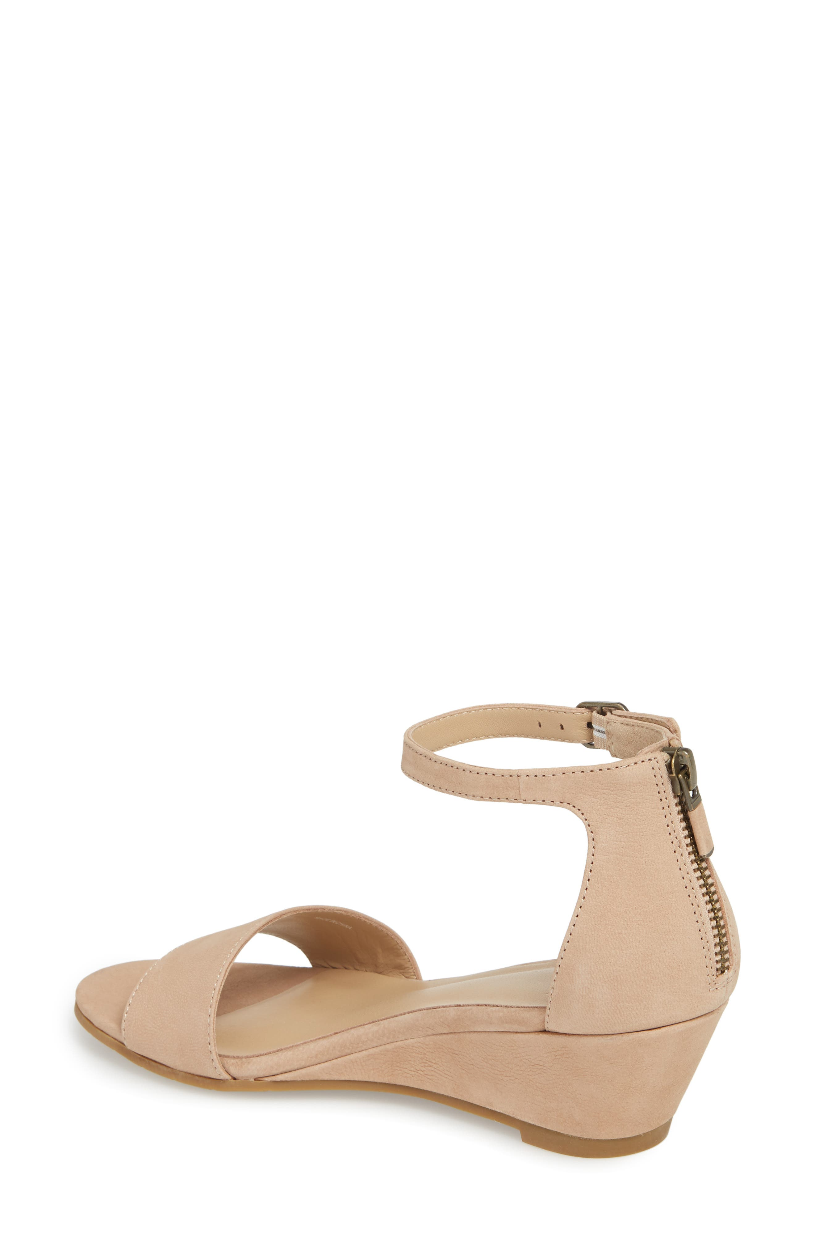 Mara Ankle Strap Wedge Sandal,                             Alternate thumbnail 7, color,