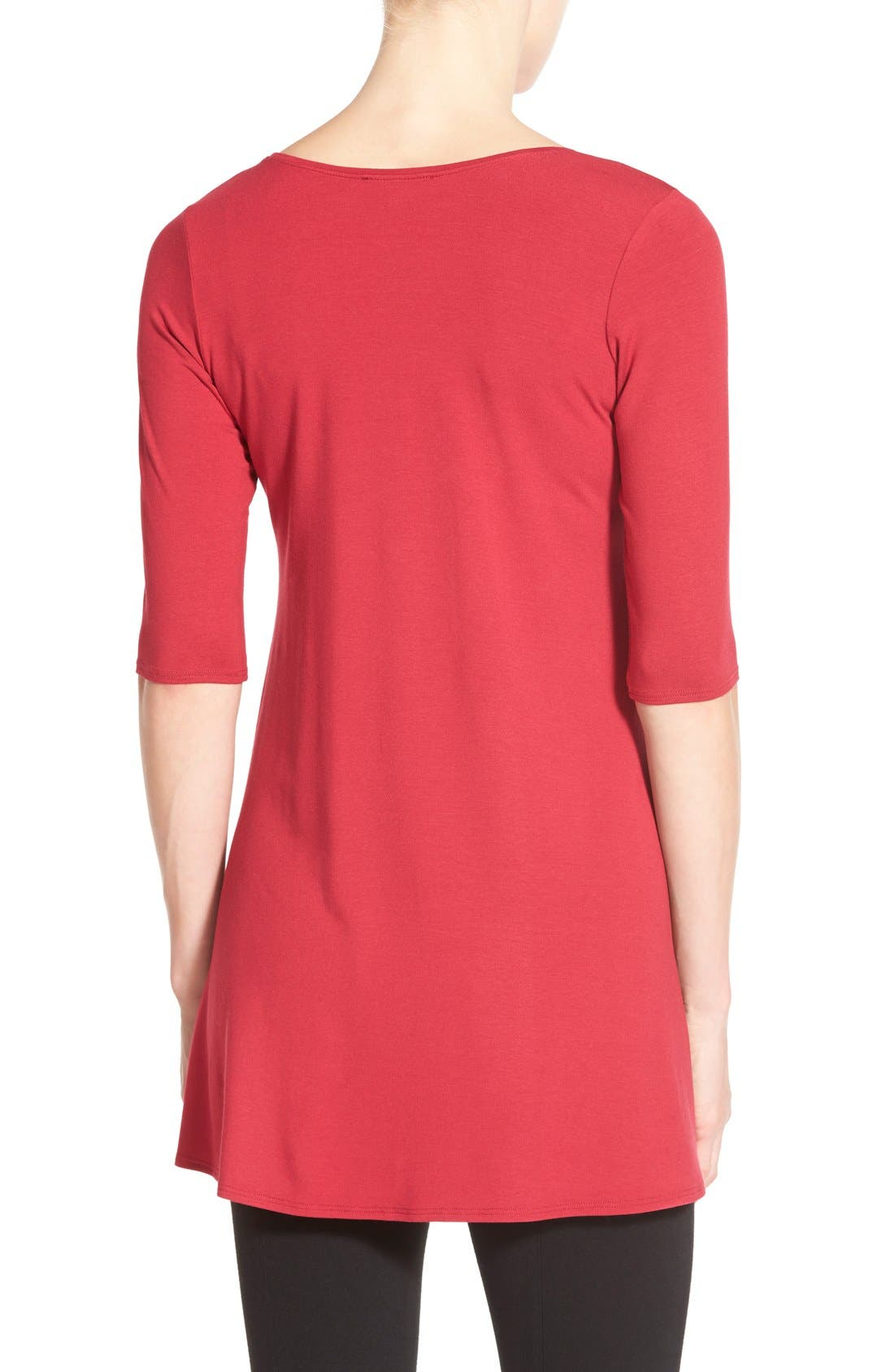 Scoop Neck Elbow Sleeve Jersey Tunic,                             Alternate thumbnail 74, color,