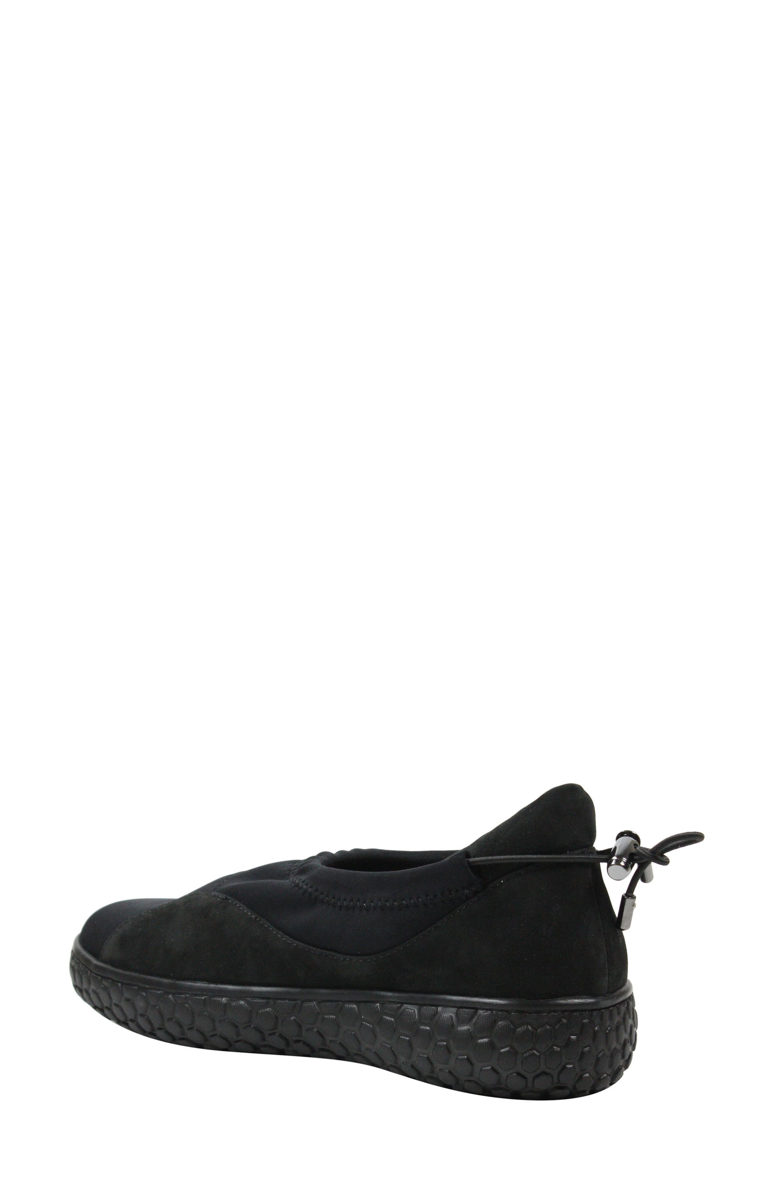 Zaidee Flat,                             Alternate thumbnail 2, color,                             BLACK NUBUCK LEATHER