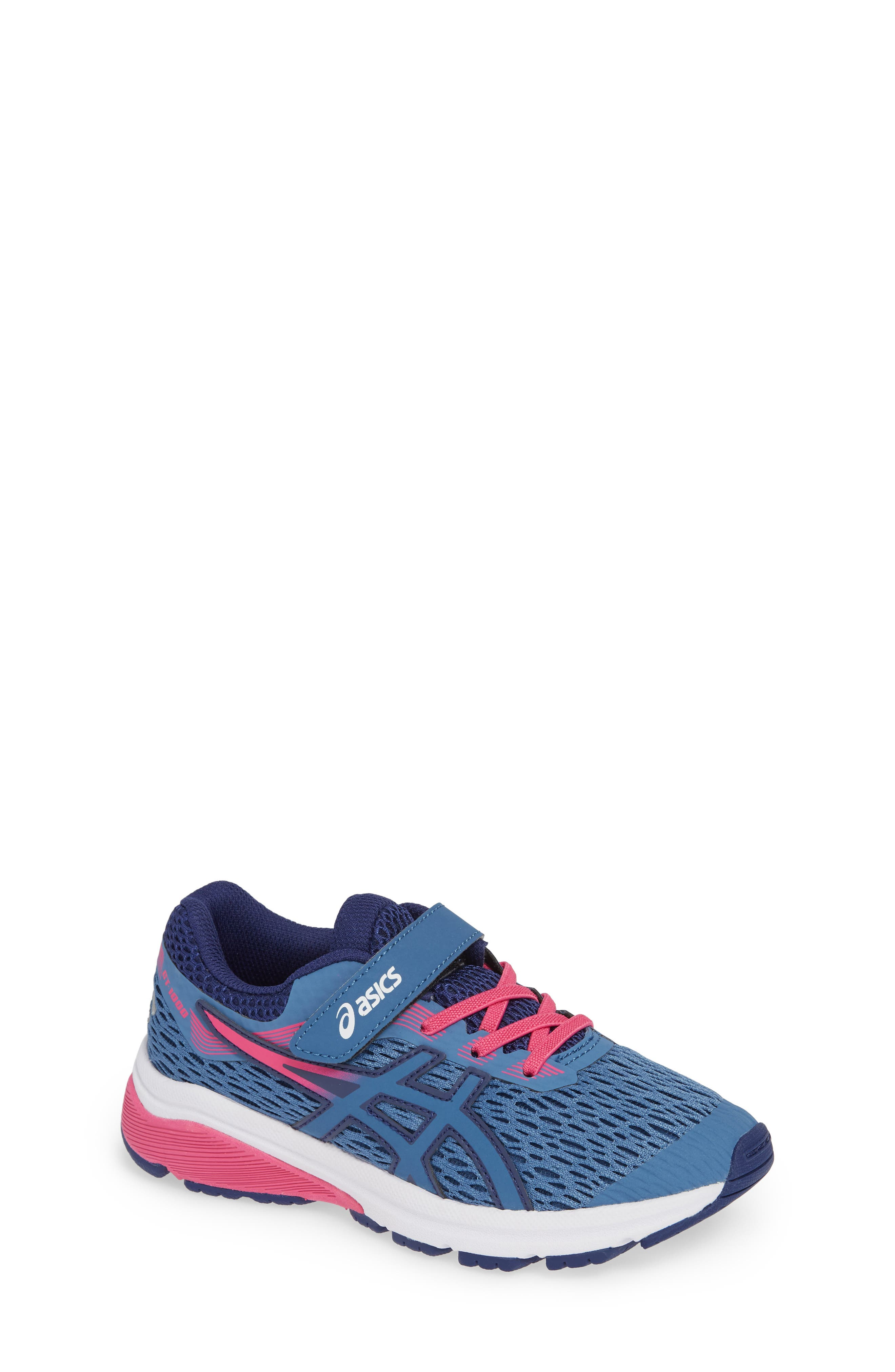 GT 1000 7 Running Shoe,                             Main thumbnail 1, color,                             AZURE/ FUCHSIA PURPLE