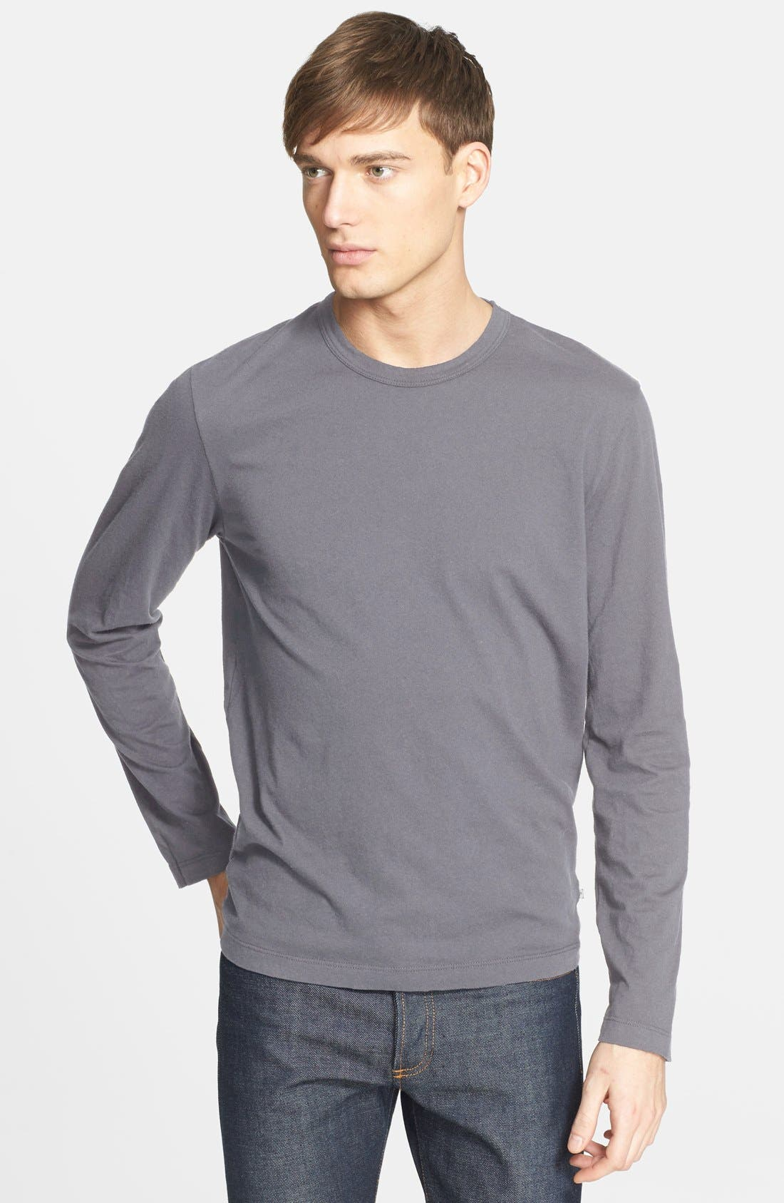 Long Sleeve Crewneck T-Shirt,                             Main thumbnail 15, color,