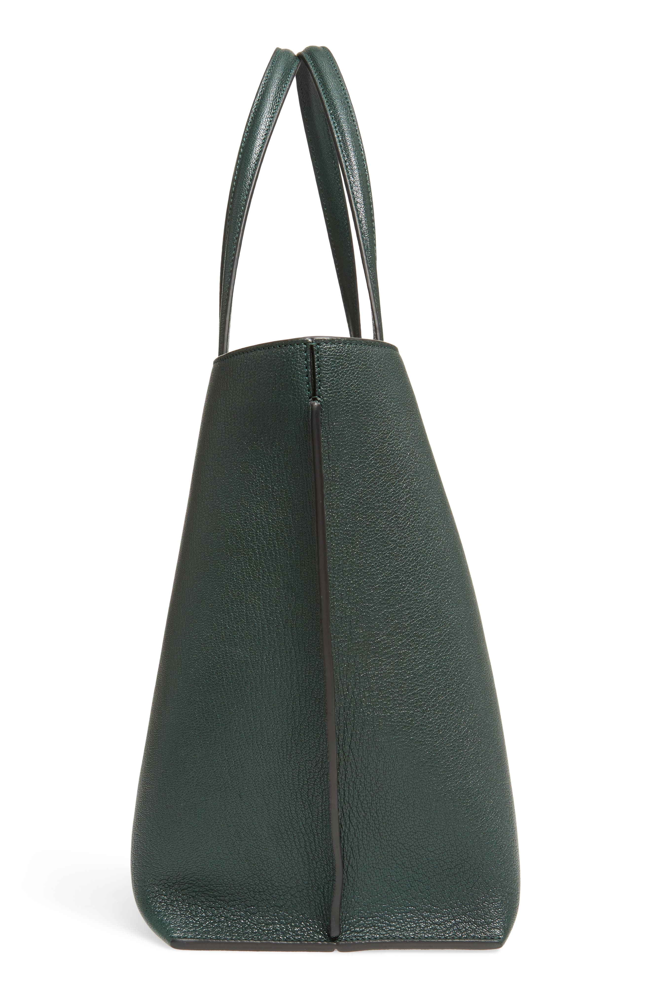 Large Leather T-Shopper,                             Alternate thumbnail 5, color,                             350
