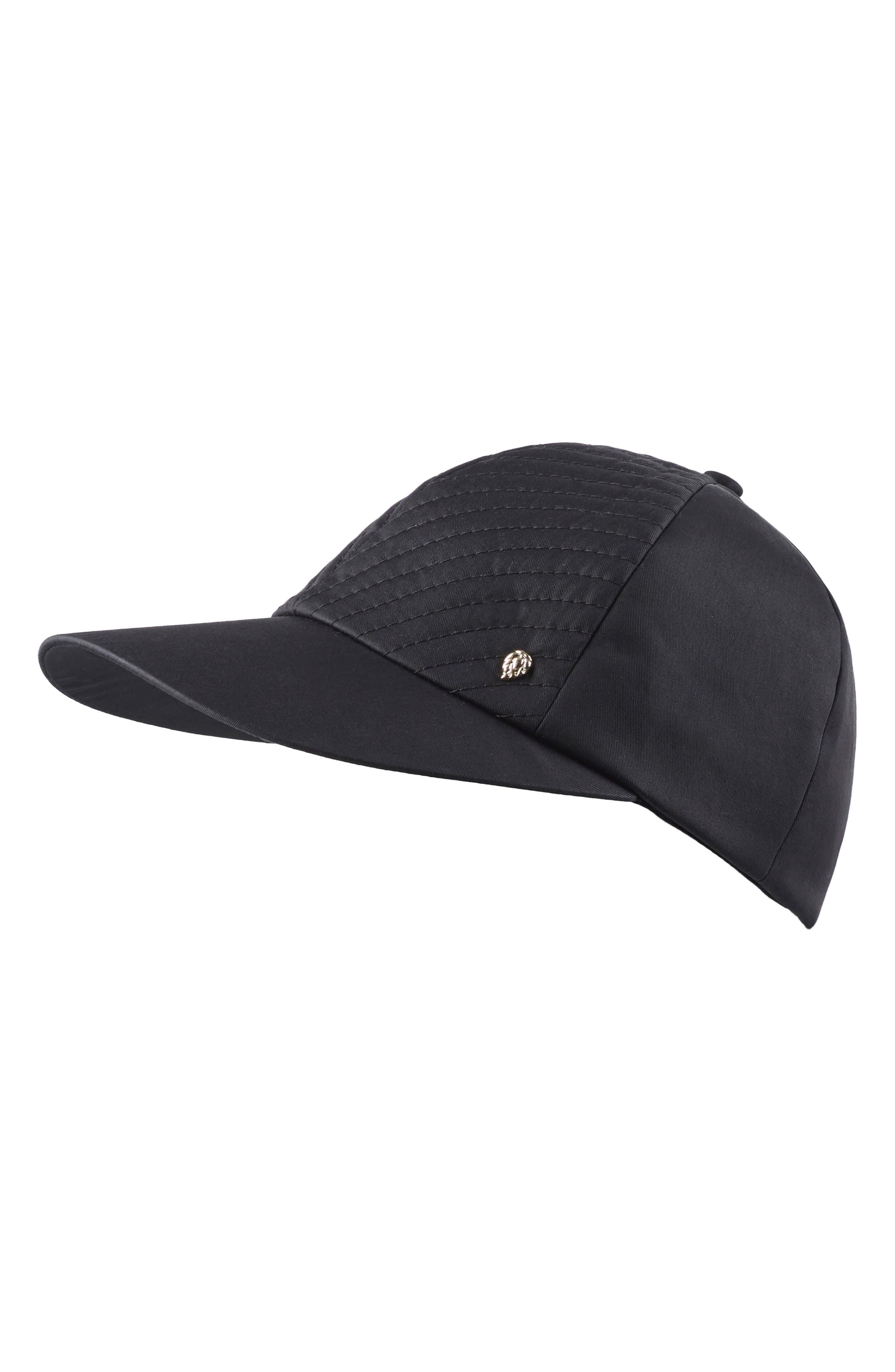 HELEN KAMINSKI,                             Water Resistant Baseball Cap,                             Main thumbnail 1, color,                             BLACK