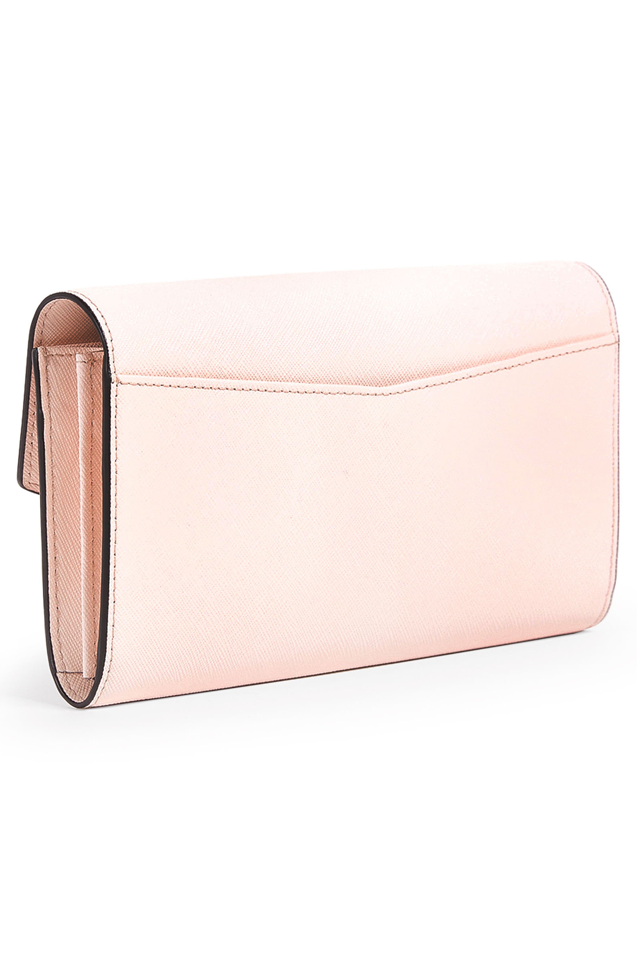 Cobble Hill Calfskin Leather Wallet,                             Alternate thumbnail 3, color,                             BLOSSOM