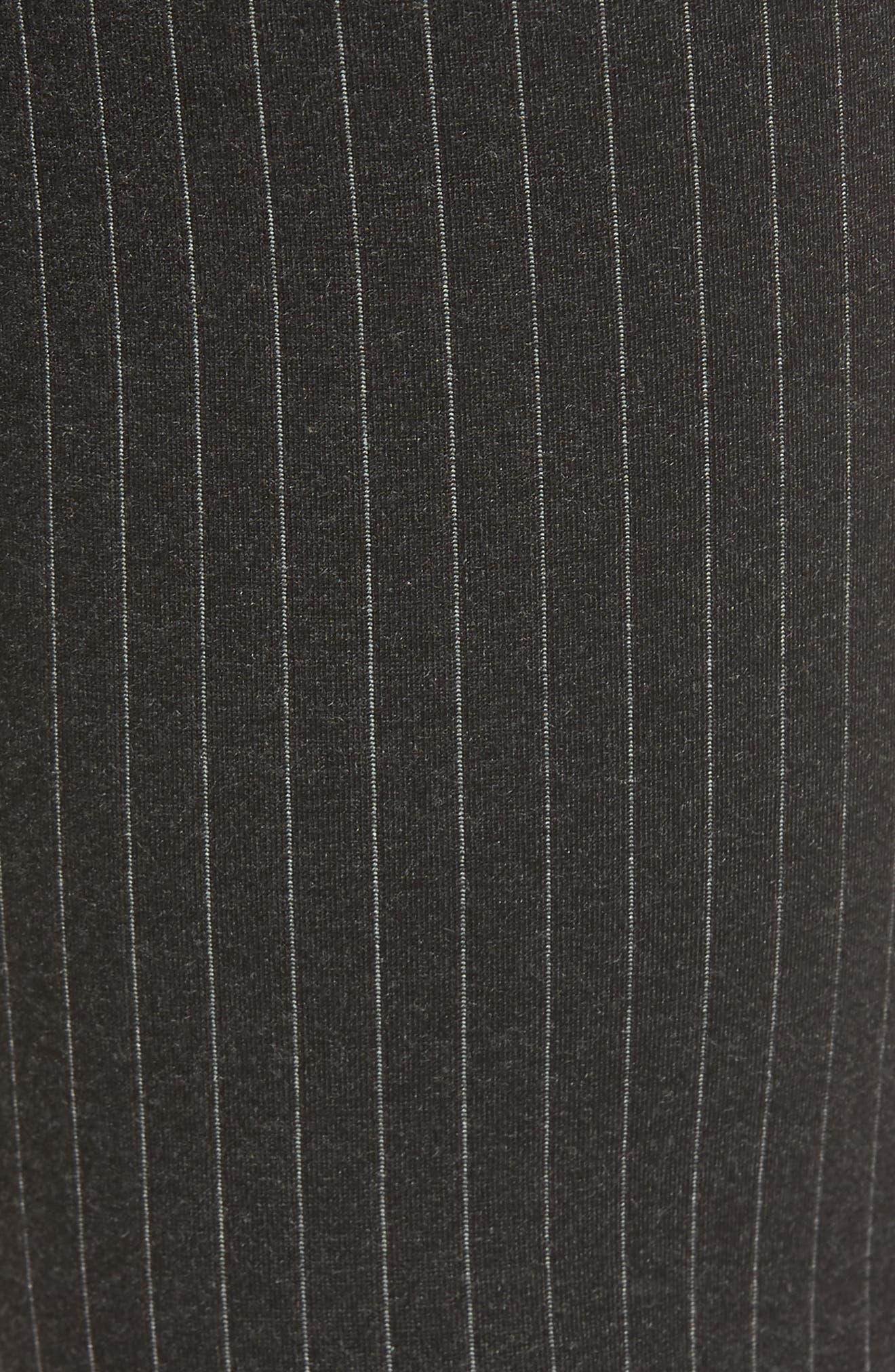 Ab-Solution Skinny Ponte Pants,                             Alternate thumbnail 7, color,                             CHARCOAL PIN STRIPE