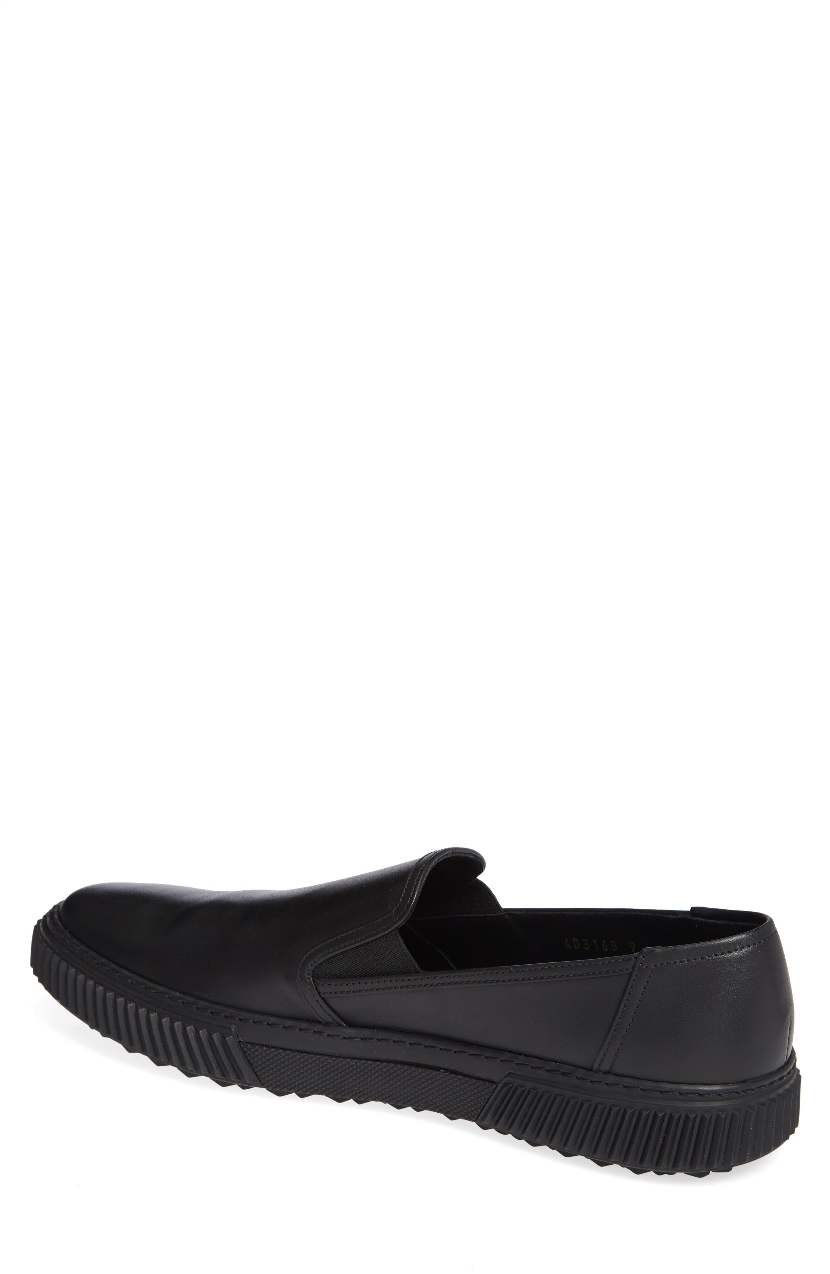 Stratus Slip-On Sneaker,                             Alternate thumbnail 2, color,                             NERO/ NERO