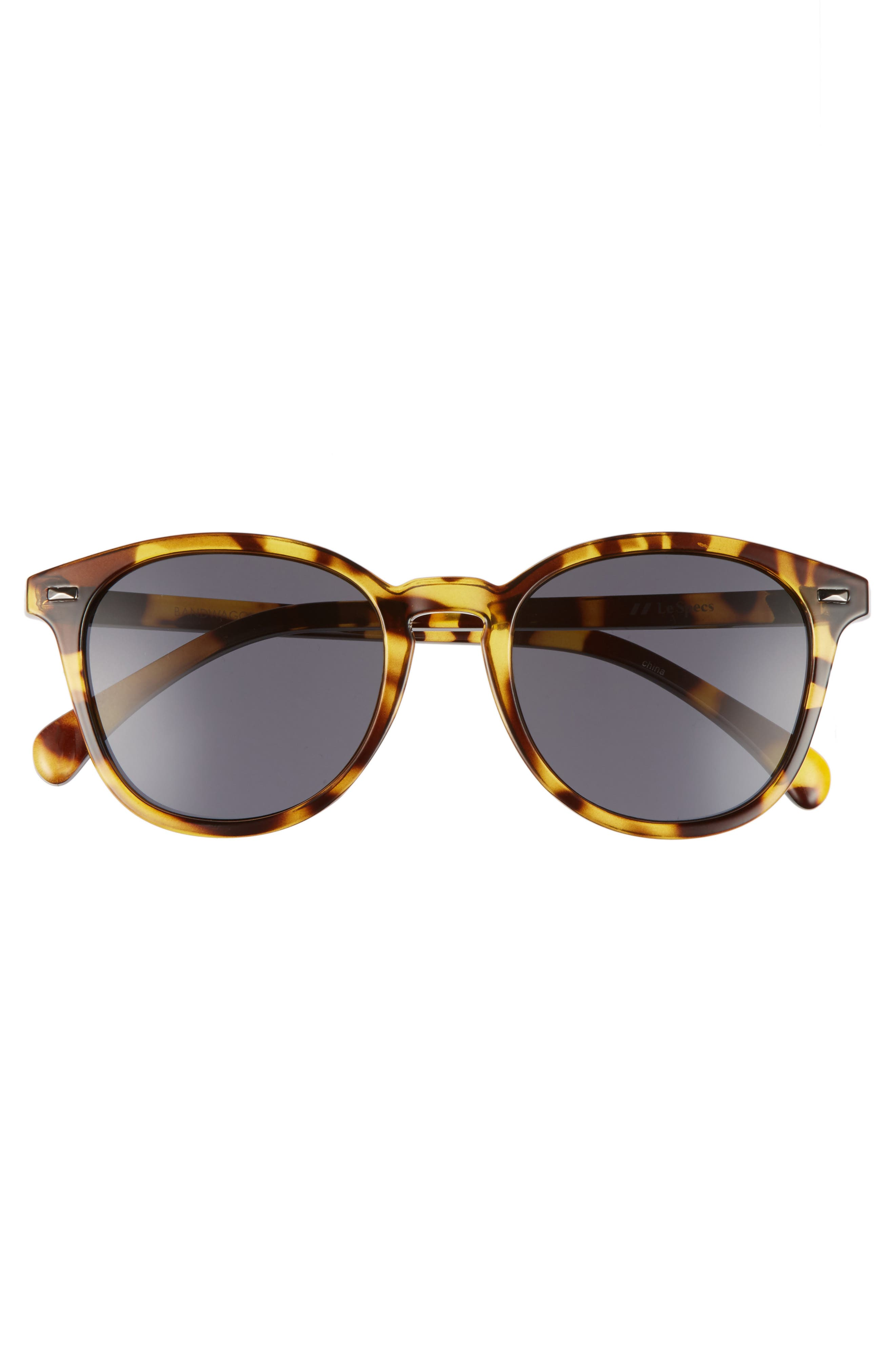 Bandwagon 50mm Sunglasses,                             Alternate thumbnail 3, color,                             SYRUP TORTOISE